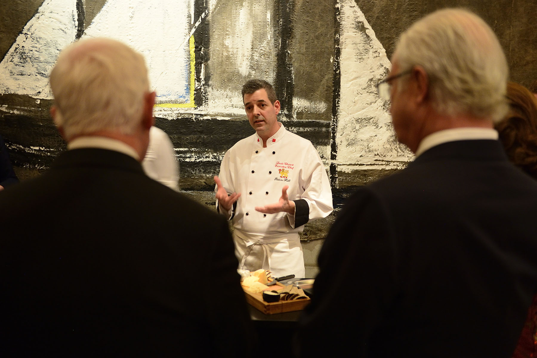 Rideau Hall's Executive Chef Mr. Louis Charest explained that all the ingredients used are available in Canada and Sweden.