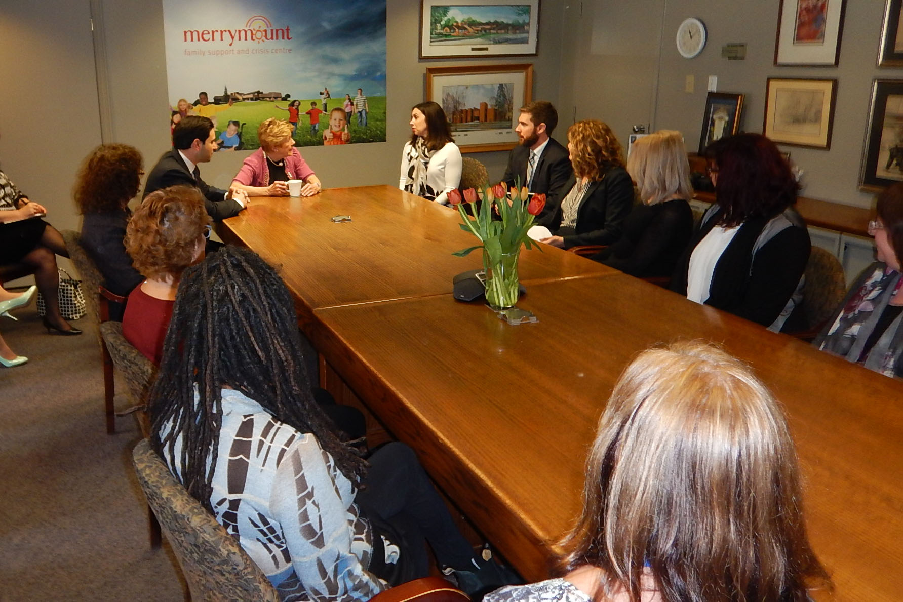 For her part, Mrs. Johnston visited the Merrymount Family Support and Crisis Centre to meet with its leadership team and patrons to better understand the ways the organization helps families and children in crisis.