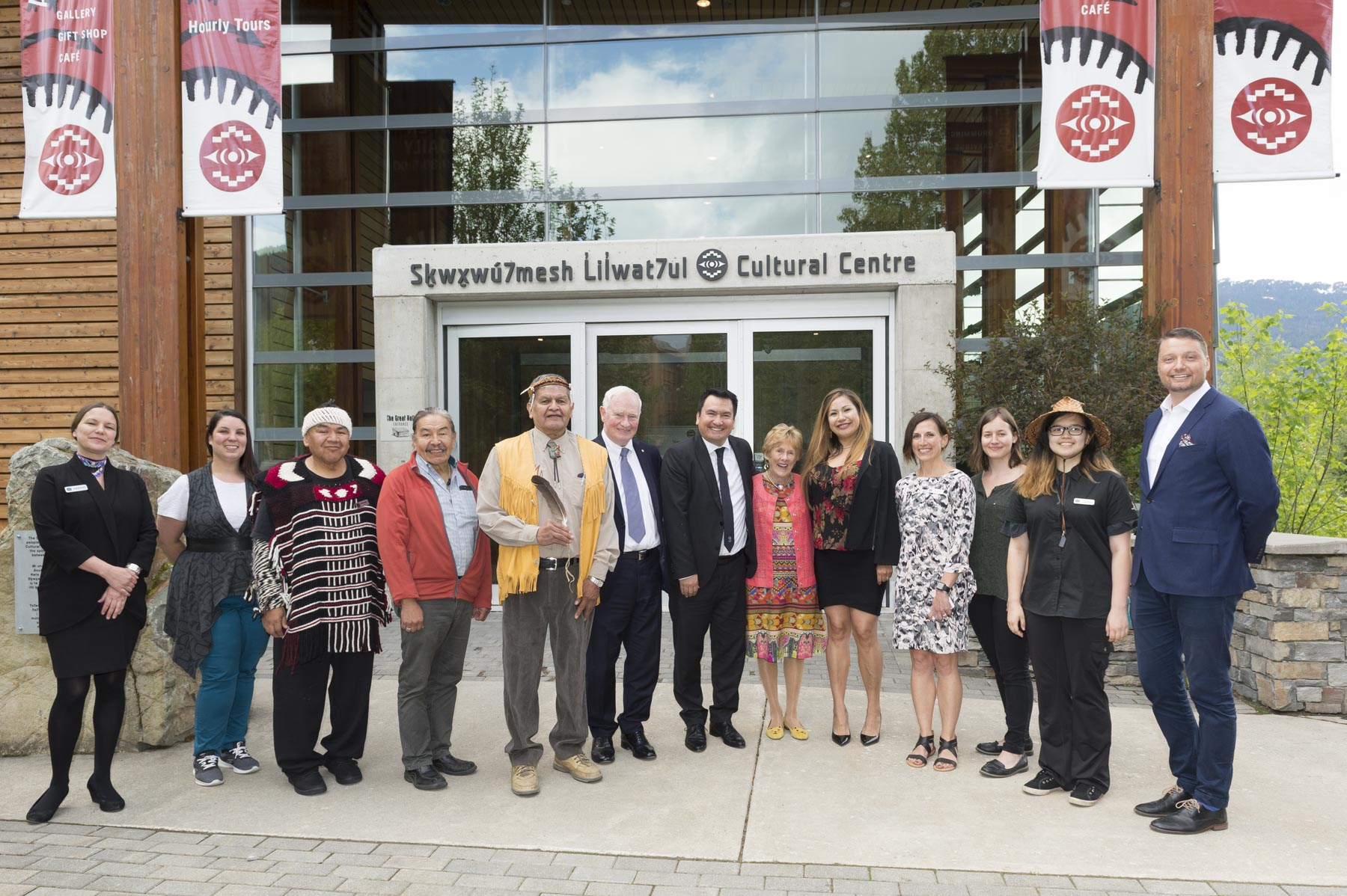 The launch of the Conference was held at the Squamish Lil'Wat Cultural Centre in Whistler.