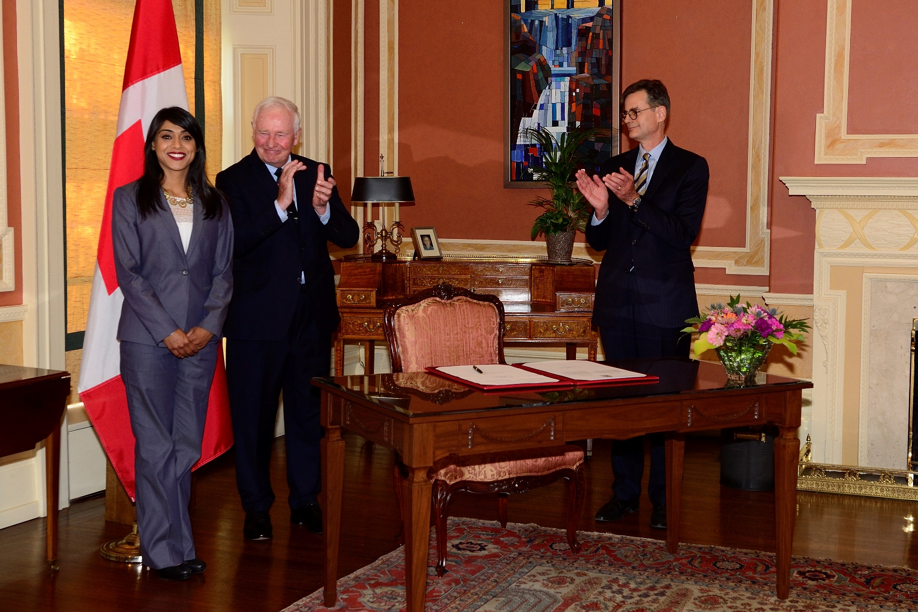 The Honourable Bardish Chagger is the first woman to hold this position in Canadian history.