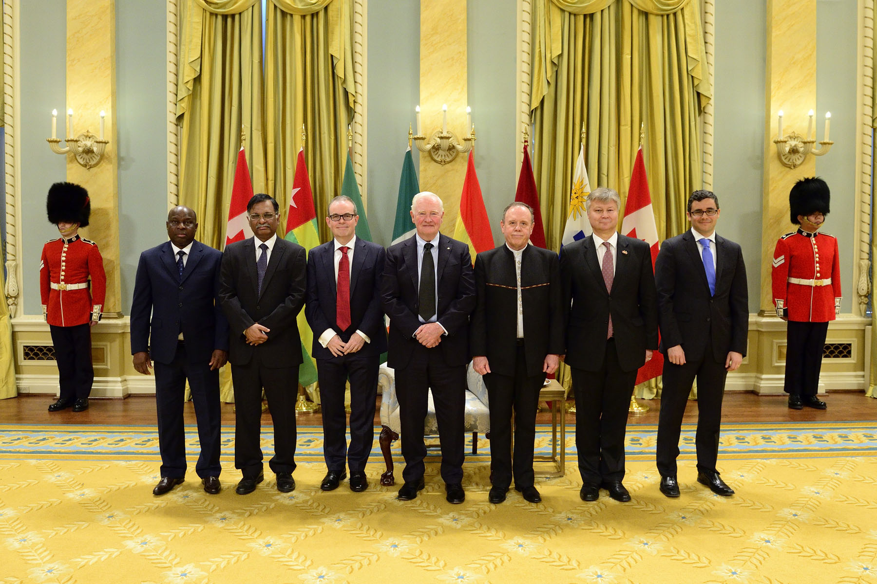 His Excellency the Right Honourable David Johnston, Governor General of Canada, received the letters of credence of six new heads of mission.