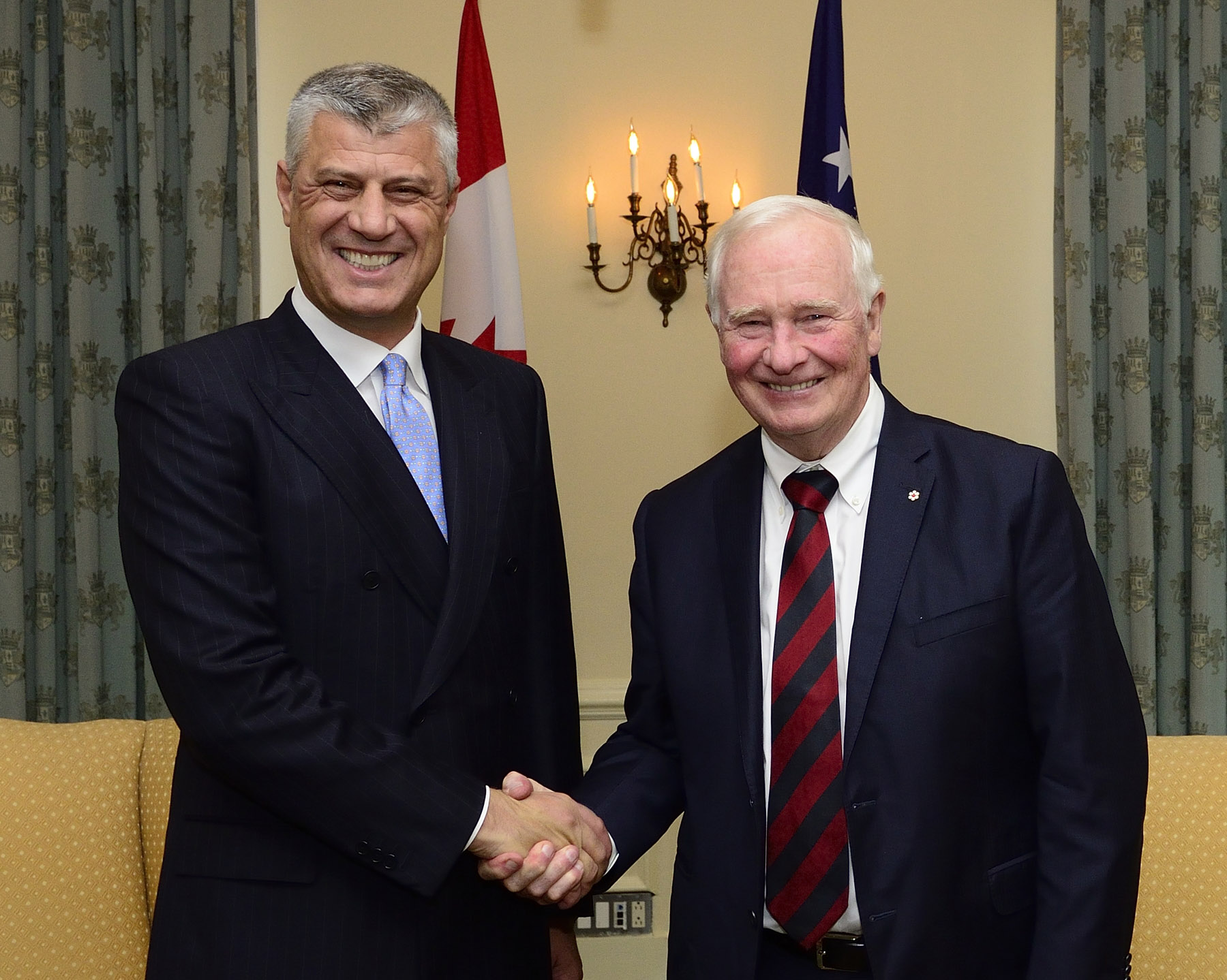 The Governor General met with Hashim Thaçi, the President of the Republic of Kosovo while in Toronto.