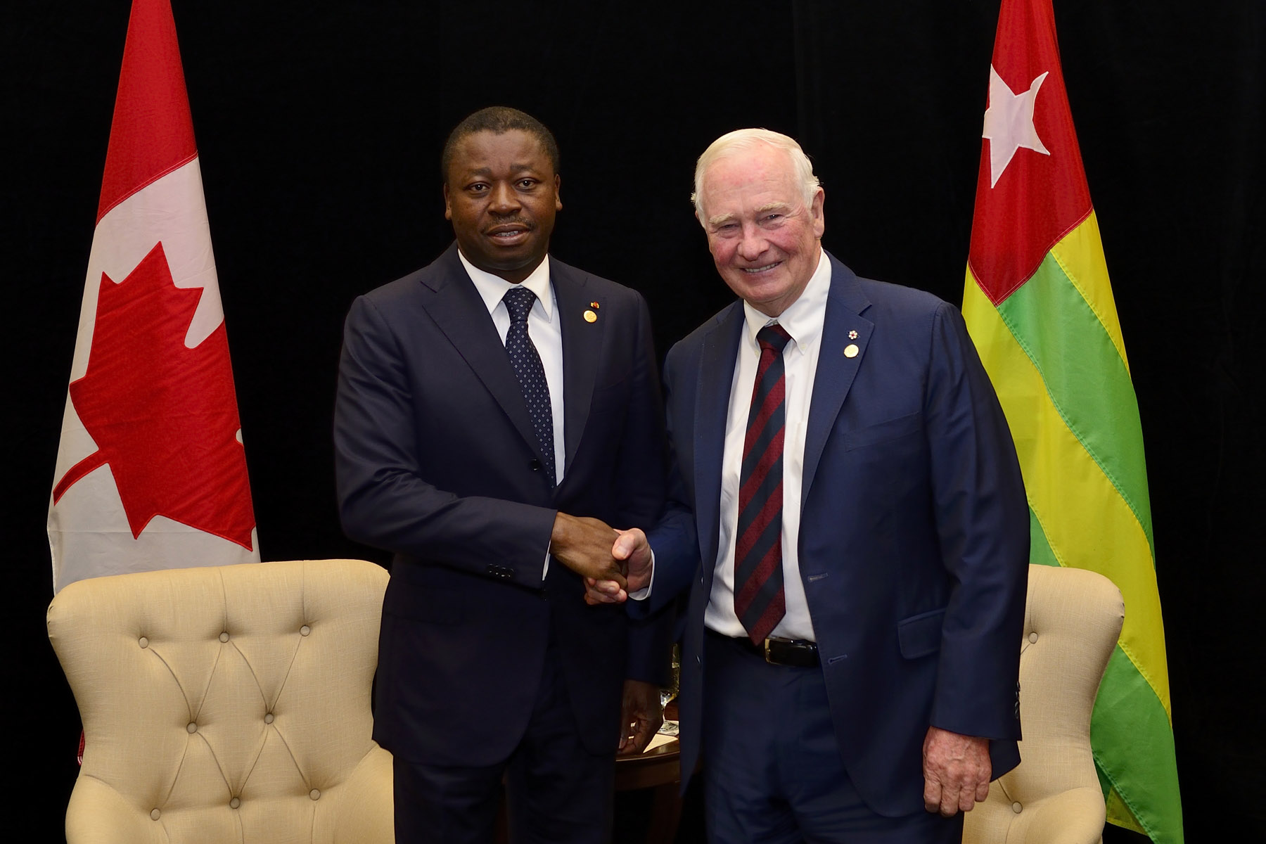 Afterwards, he met with Faure Essozimna Gnassingbé, President of the Republic of Togo.