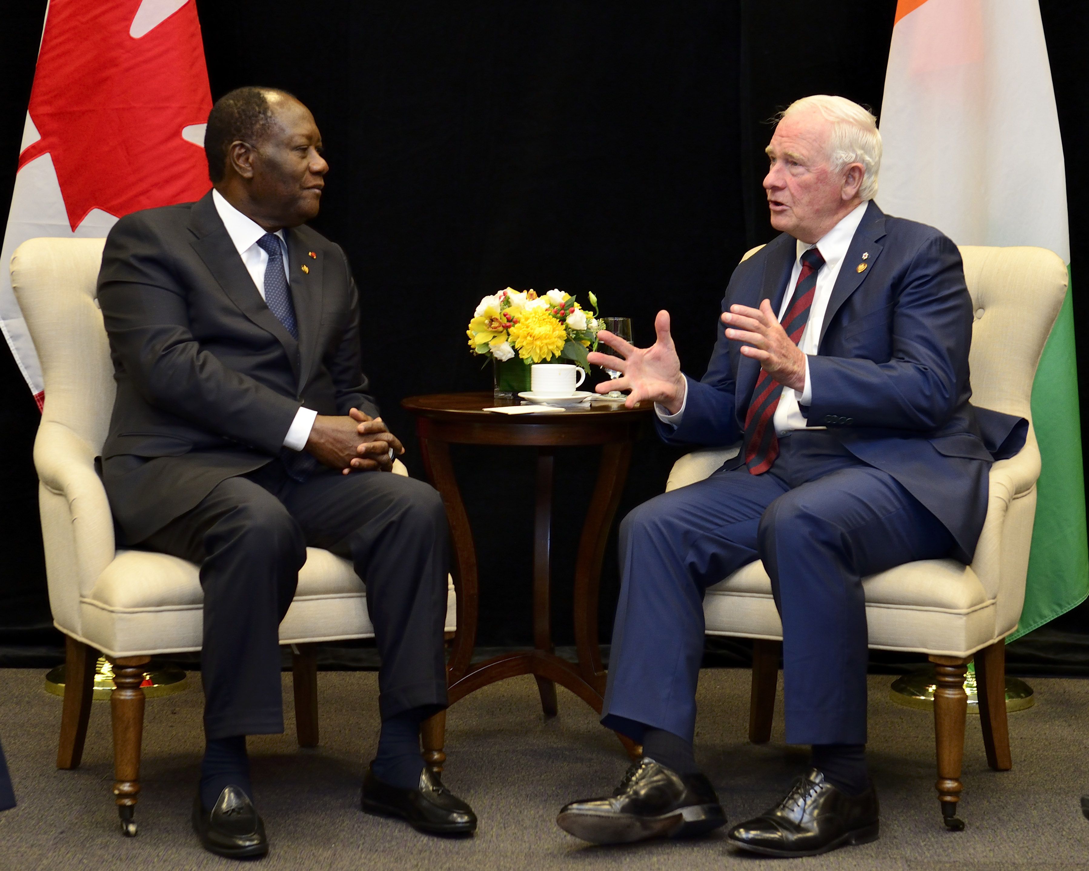 He also met with Alassane Ouattara, President of the Republic of Ivory Coast.