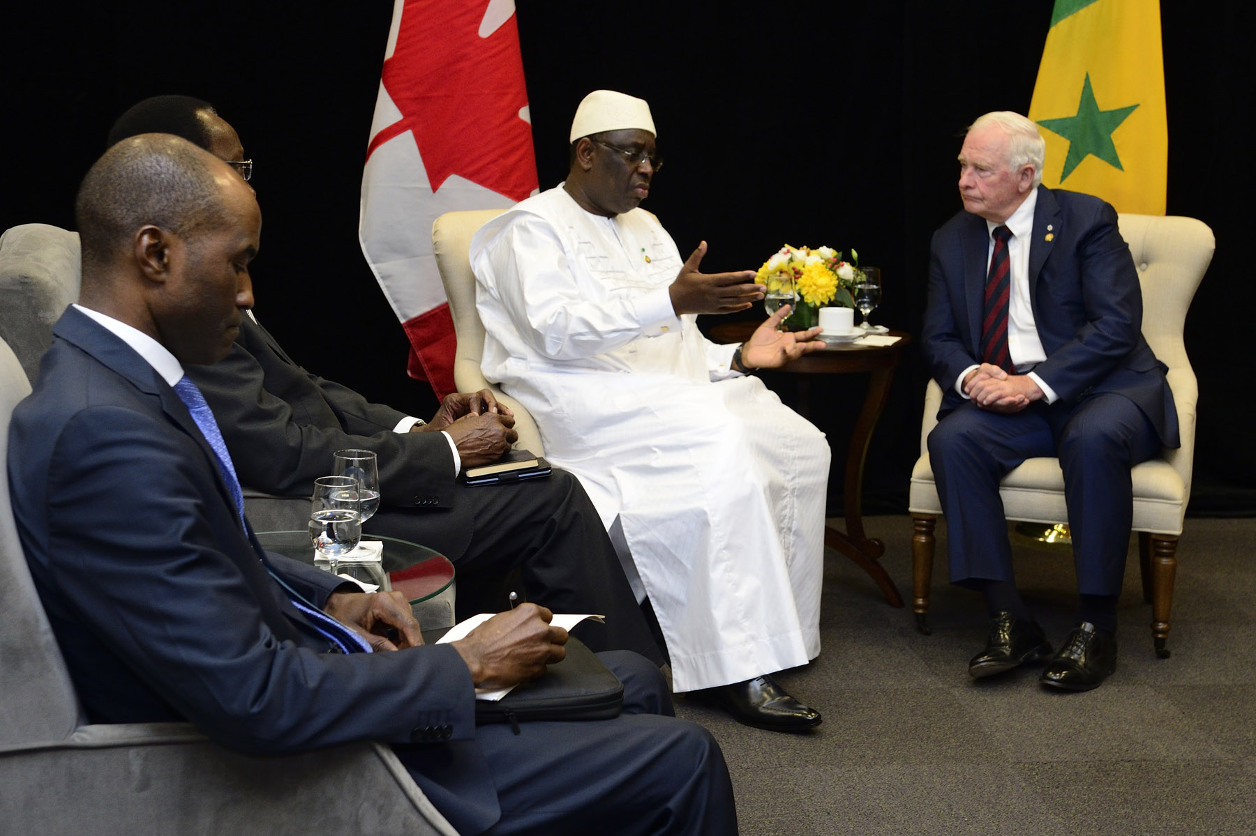His Excellency concluded his bilateral meetings with Macky Sall, President of the Republic of Senegal.