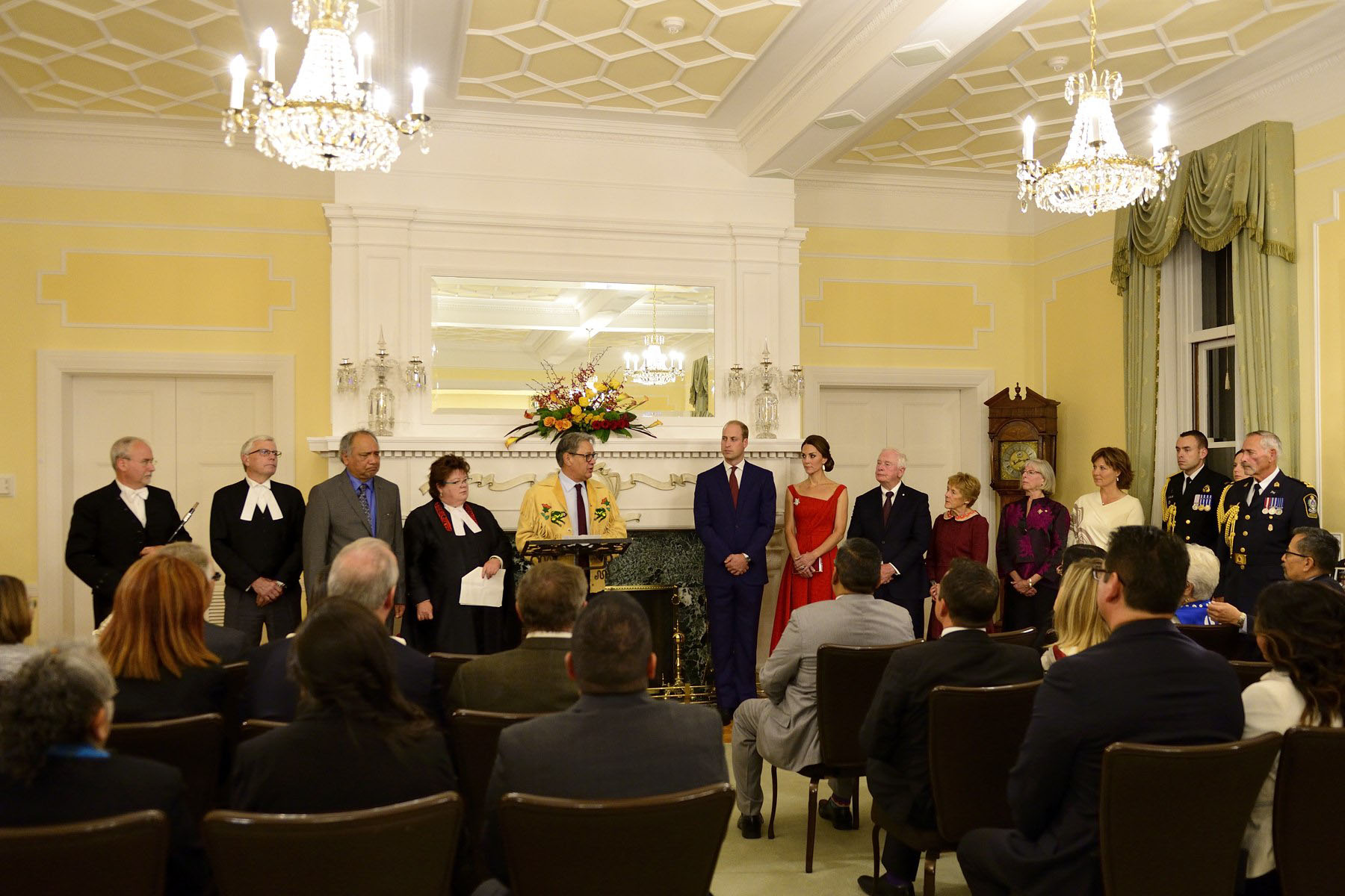 Their Excellencies joined Their Royal Highnesses at a Black Rod ceremony followed by a reception at Government House.