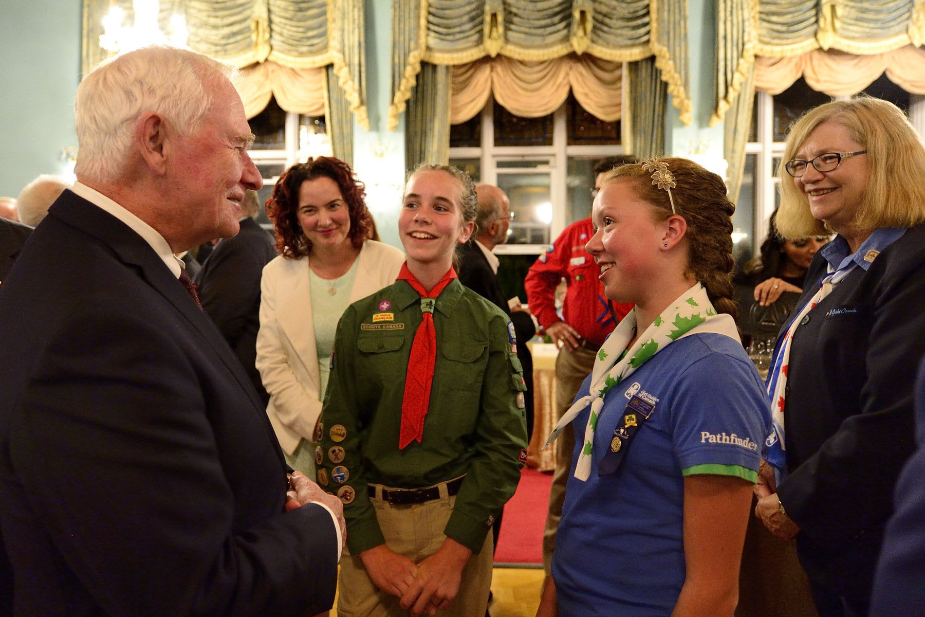 The Governor General met with youth from Victoria at the reception at Government House.