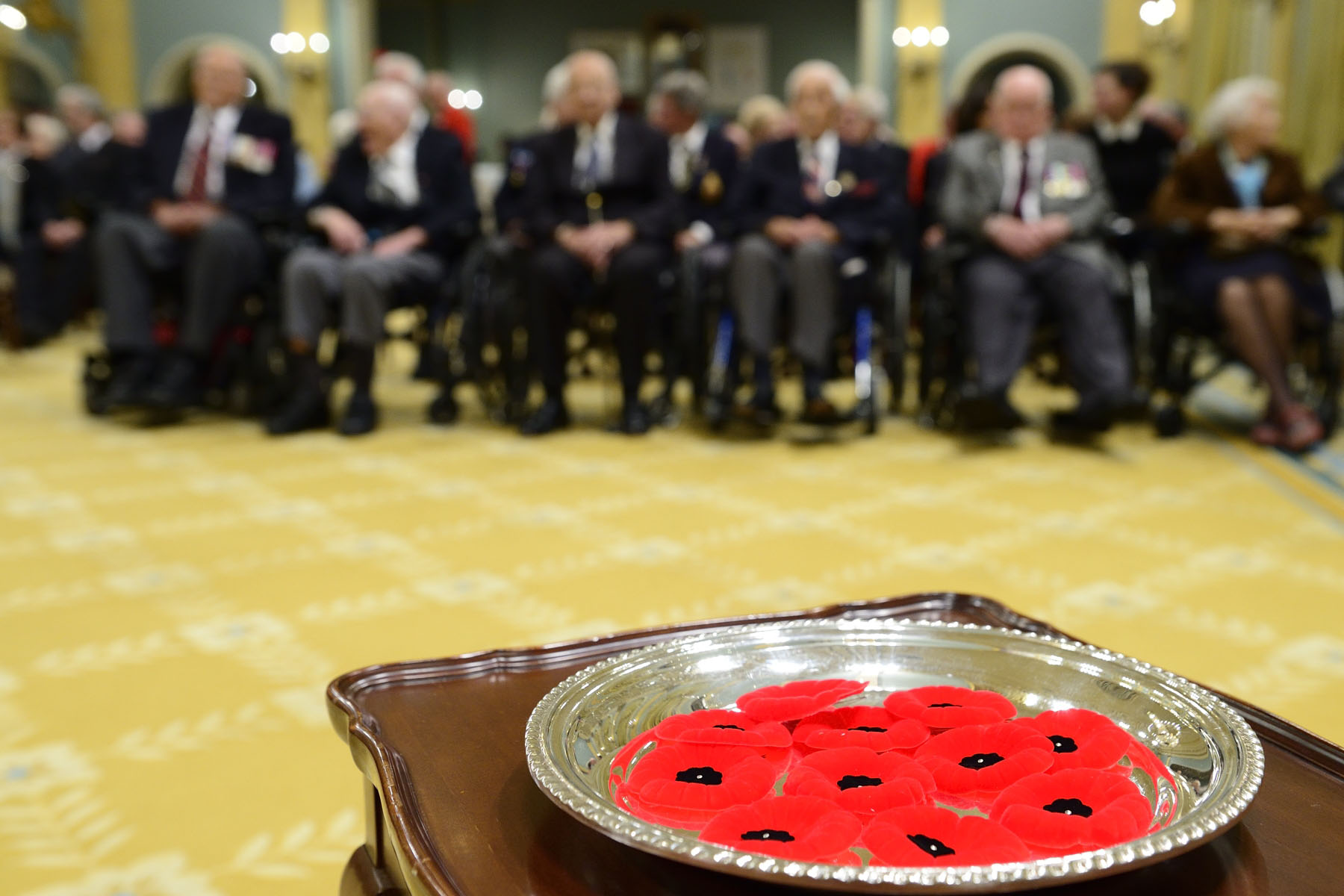 His Excellency the Right Honourable David Johnston, Governor General and Commander-in-Chief of Canada and patron of The Royal Canadian Legion, hosted the 2016 National Poppy Campaign ceremony at Rideau Hall.