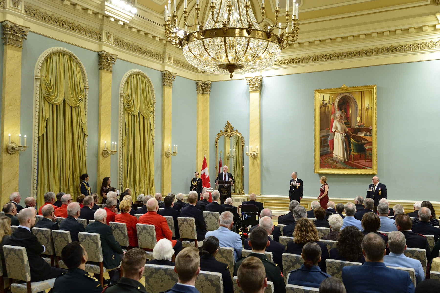"""It's now our responsibility to pass on what we know, to keep their memories alive,"" said the Governor General. ""We must take up the task, plant the stories, tend to them and watch them bloom with the next generation of Canadians."""