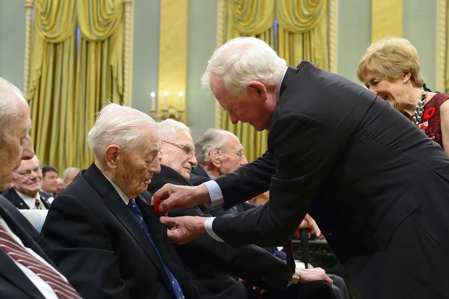 It is always a proud moment for the Governor General to pin a poppy on those who have given so much to this country.