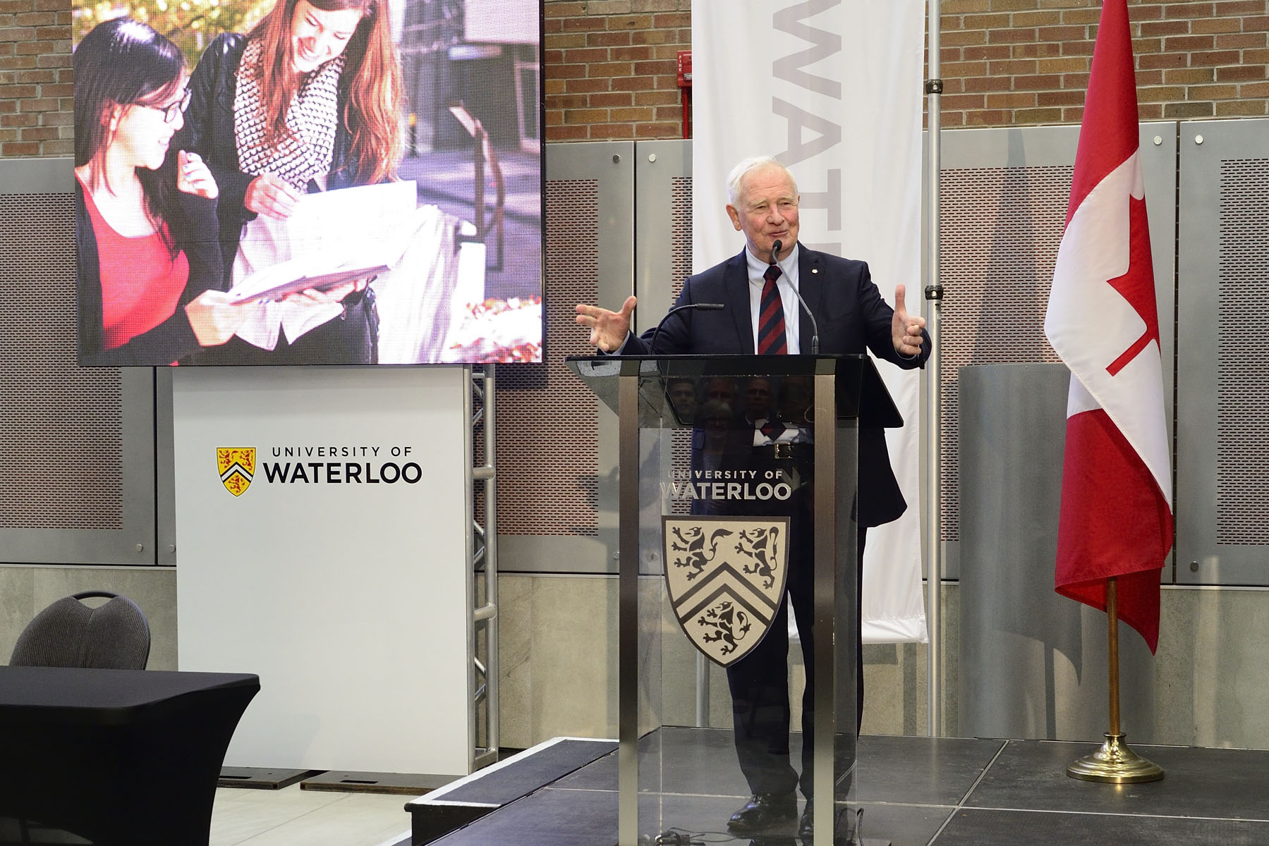 The Governor General presented his recently published book The Idea of Canada: Letters to a Nation at the University of Waterloo.
