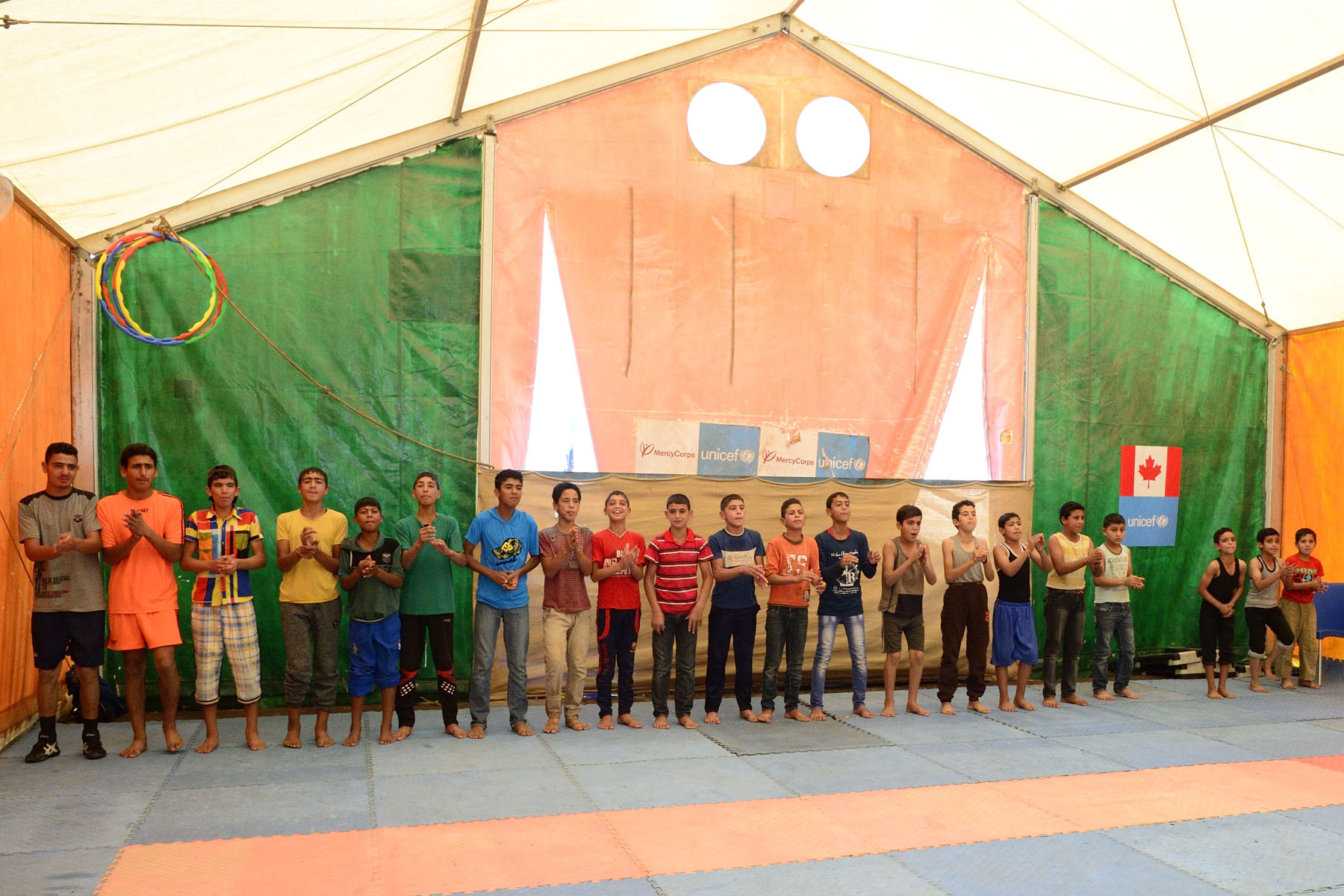 They also watched a wrestling demonstration at a community center and met with a former Syrian national wrestling champion who is acting as a coach and mentor for young men.