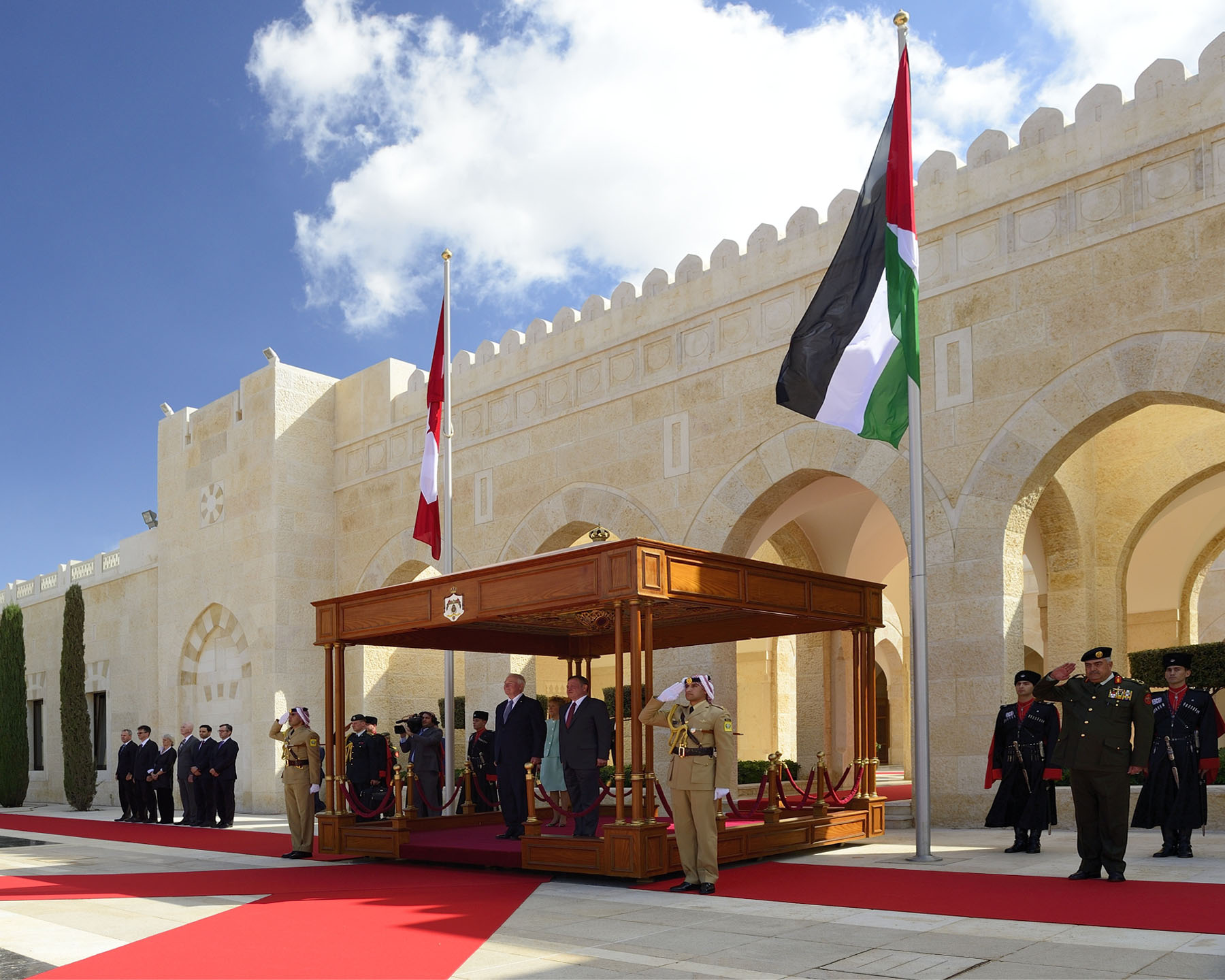 The official ceremony was held at the Al Husseini Royal Palace.