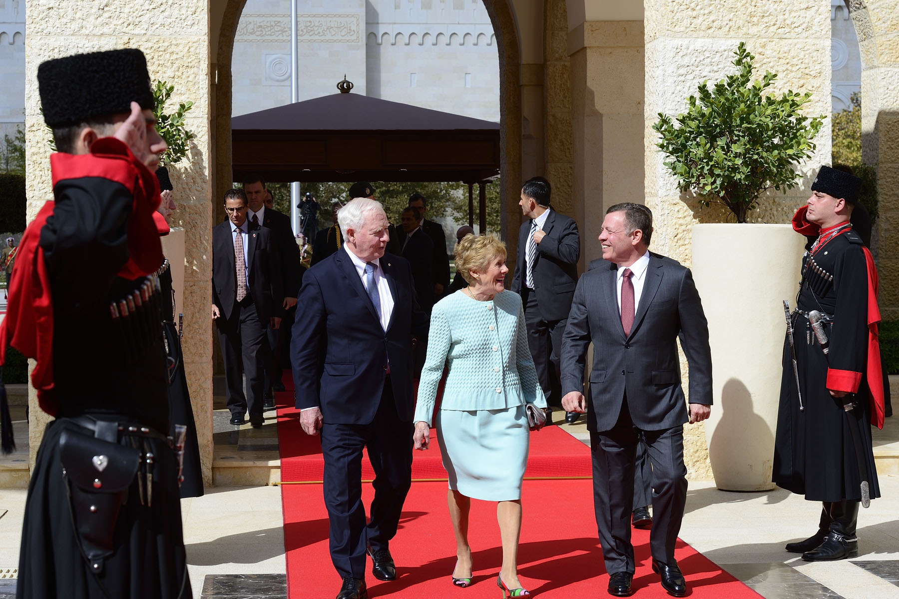 David Johnston is the first Canadian governor general to conduct a State visit to Jordan.