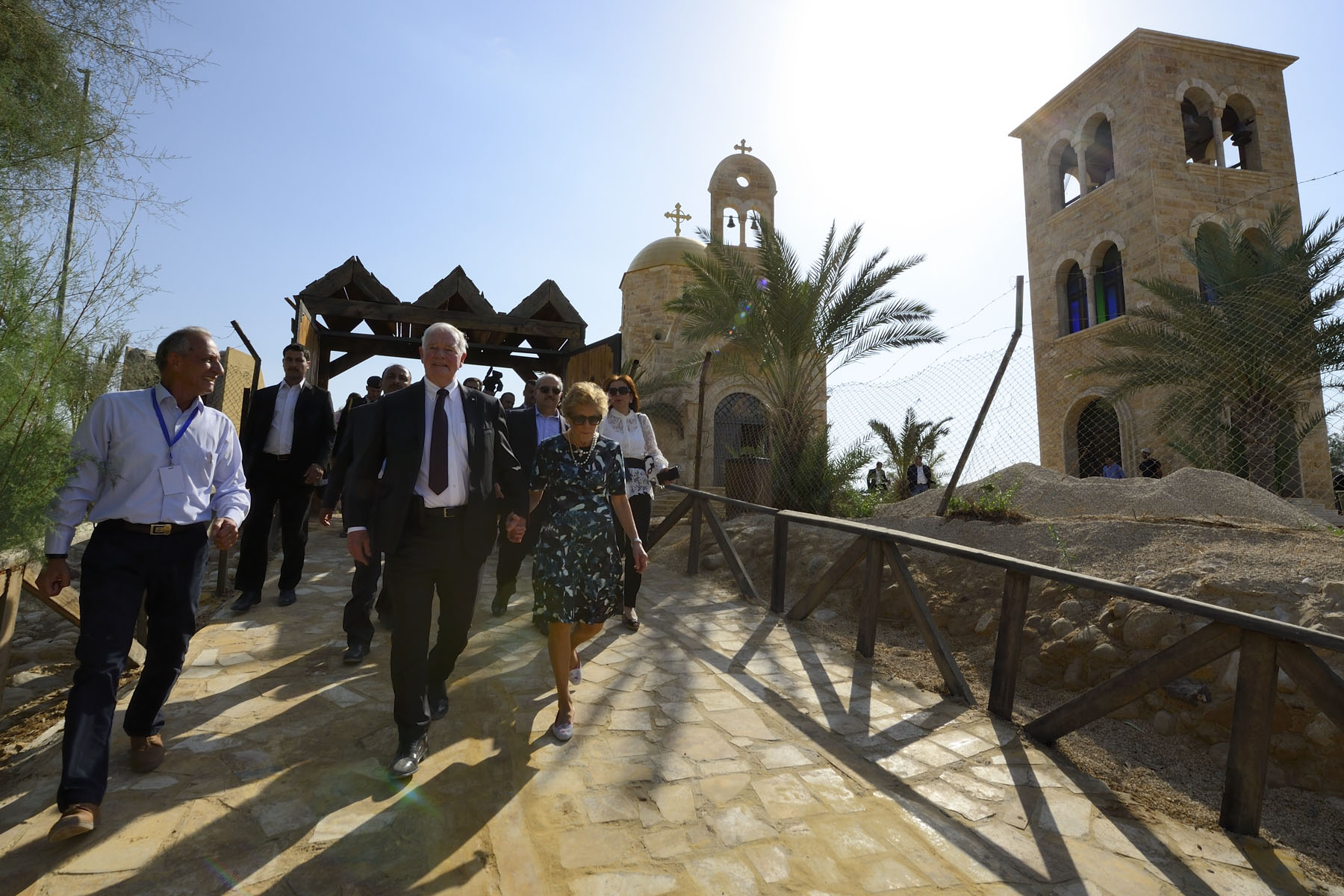 On their last day in Jordan, Their Excellencies visited the Baptism Site of Jesus Christ, also known as 'Bethany Beyond the Jordan'.