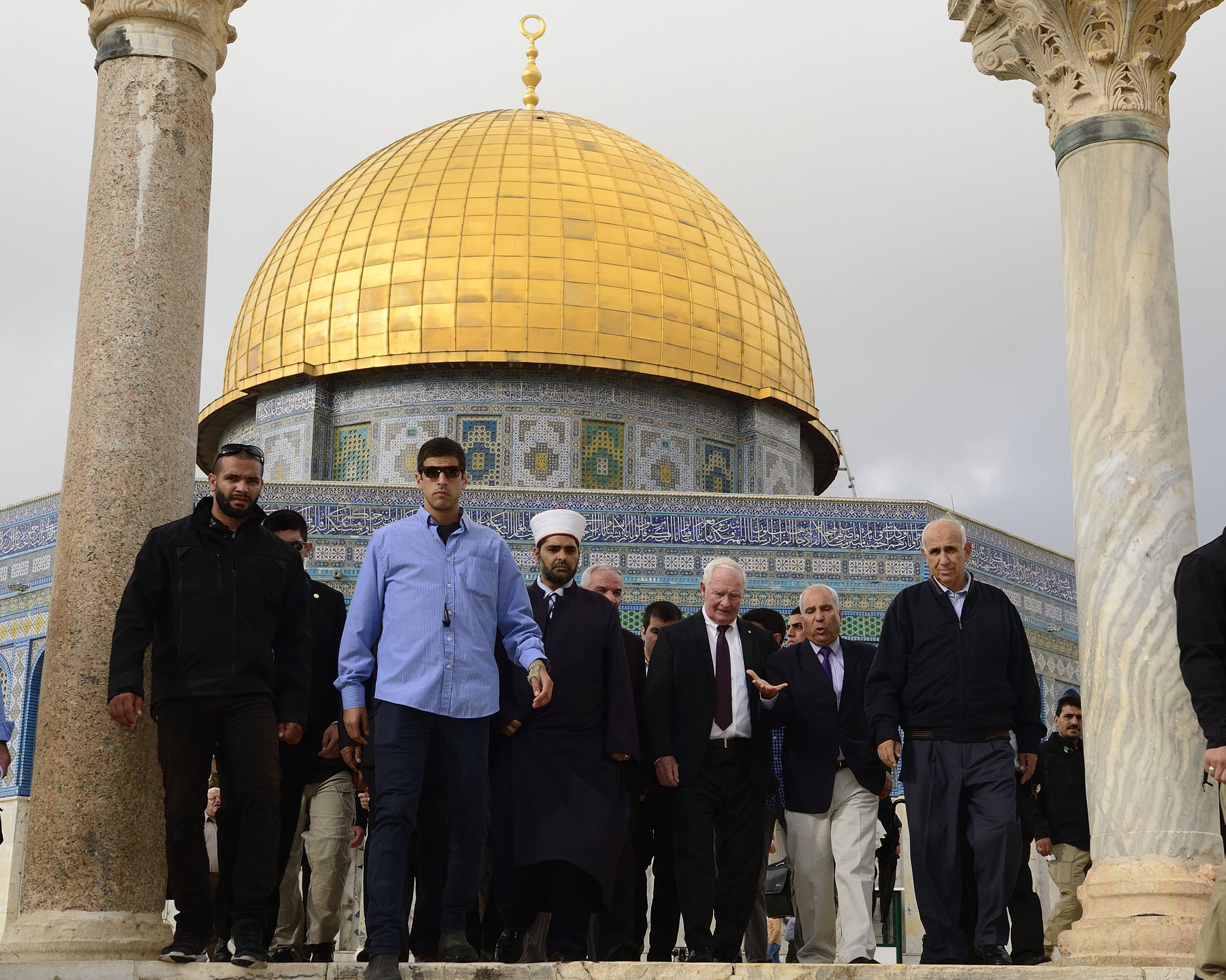Upon their arrival in Jerusalem, Their Excellencies visited three holy sites in the Old City.