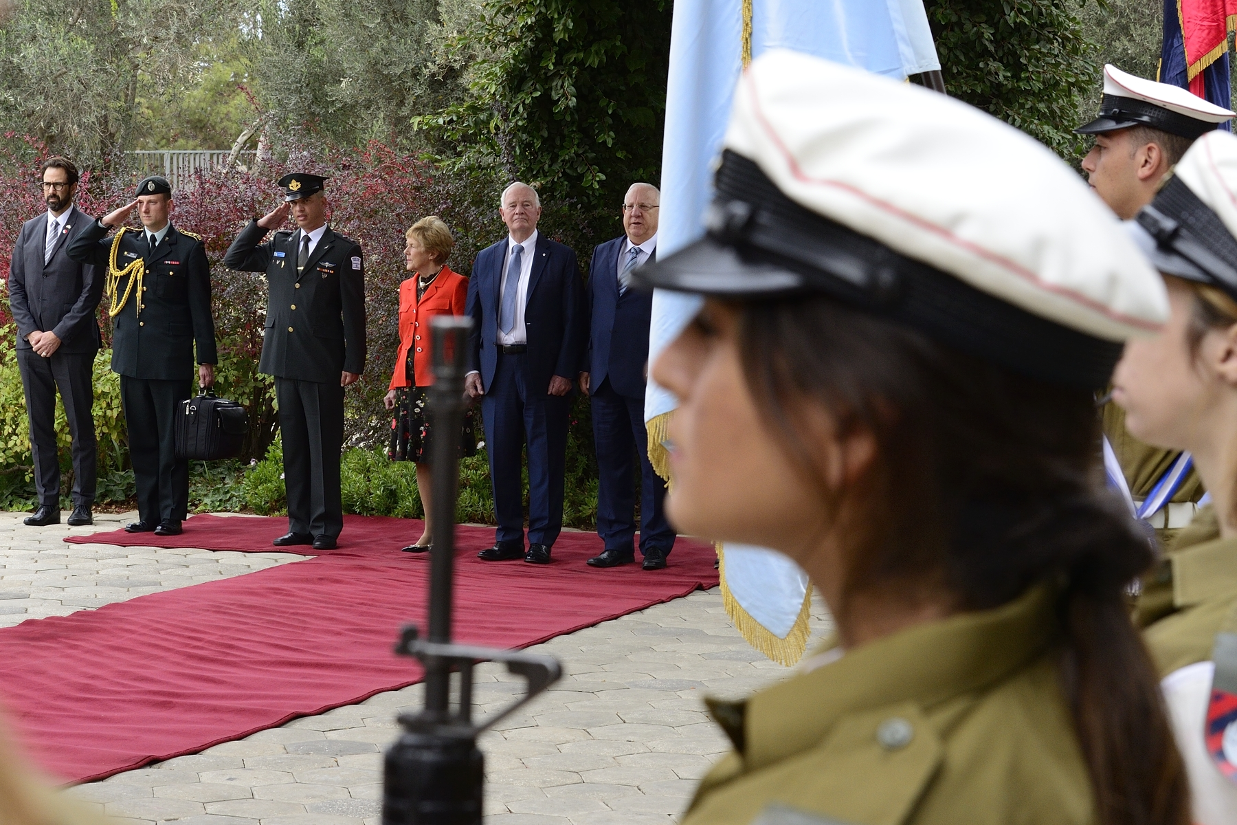 Their Excellencies were officially welcomed by His Excellency Reuven Rivlin, President of Israel, and by First Lady Nechama Rivlin, on November 2, 2016.