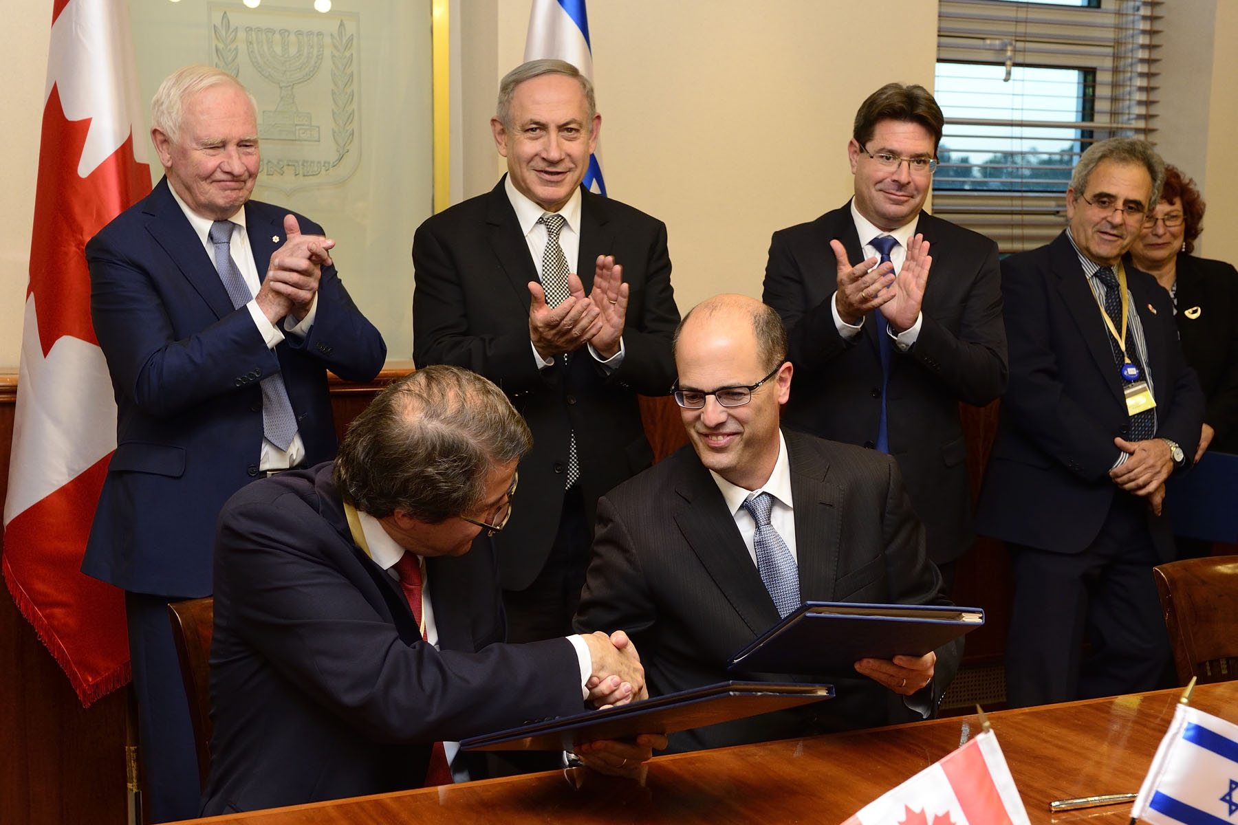 The second agreement was with the Israel's Ministry of Science, Technology and Space (MOST) and establishes an academic research collaboration between Canadian and Israeli universities through the Globalink Research Award program.