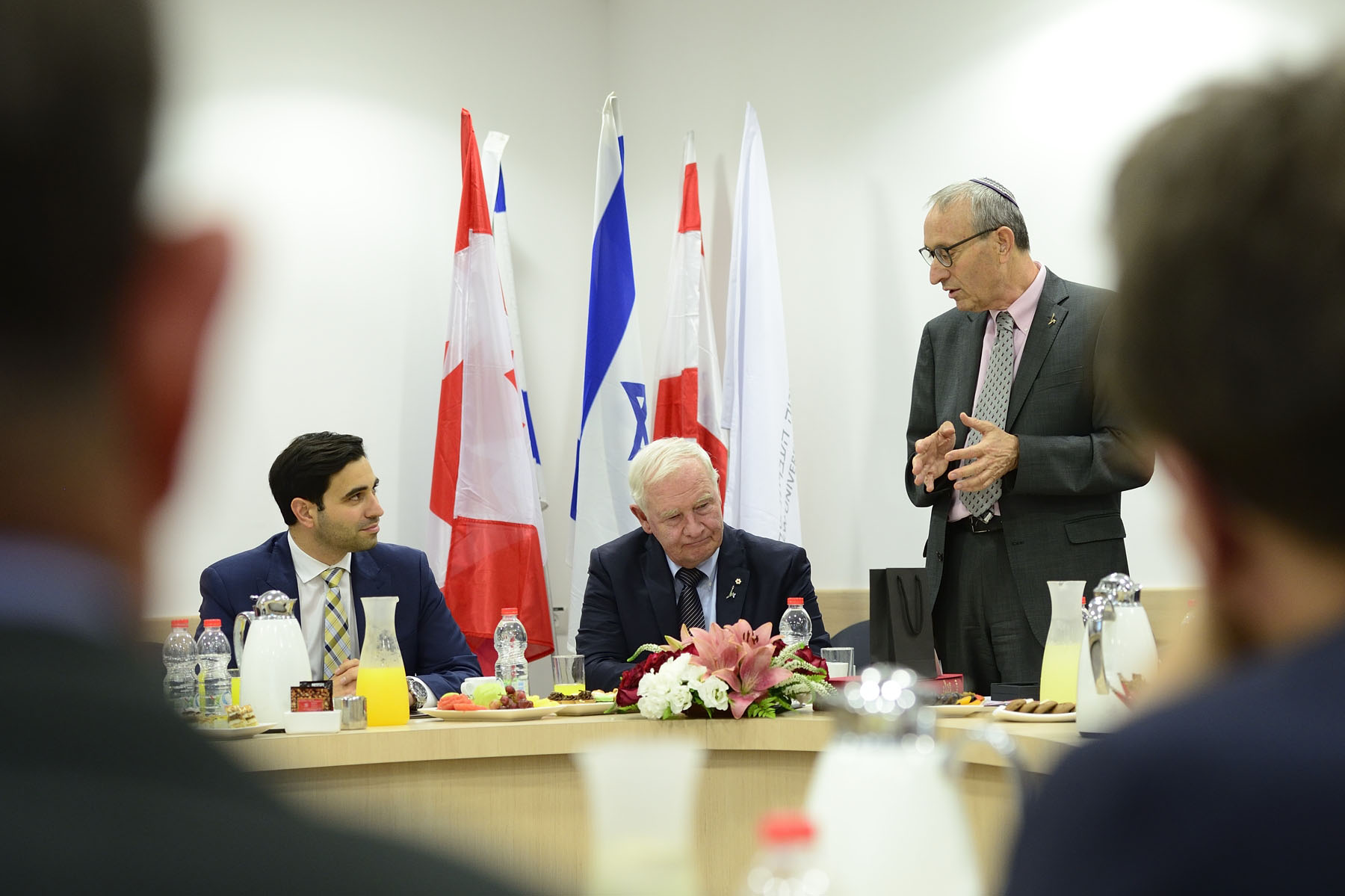 Their Excellencies and members from the Canadian delegation visited Institute for Medical Research Israel-Canada (IMRIC) to discuss successful collaborative medical research partnerships between Canada and Israel.