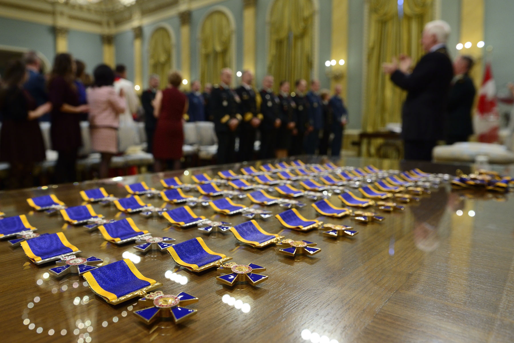 His Excellency the Right Honourable David Johnston, Governor General and Commander-in-Chief of Canada, will preside over an Order of Military Merit investiture ceremony at Rideau Hall. Created in 1972, the Order recognizes meritorious service and devotion to duty by members of the Canadian Armed Forces.