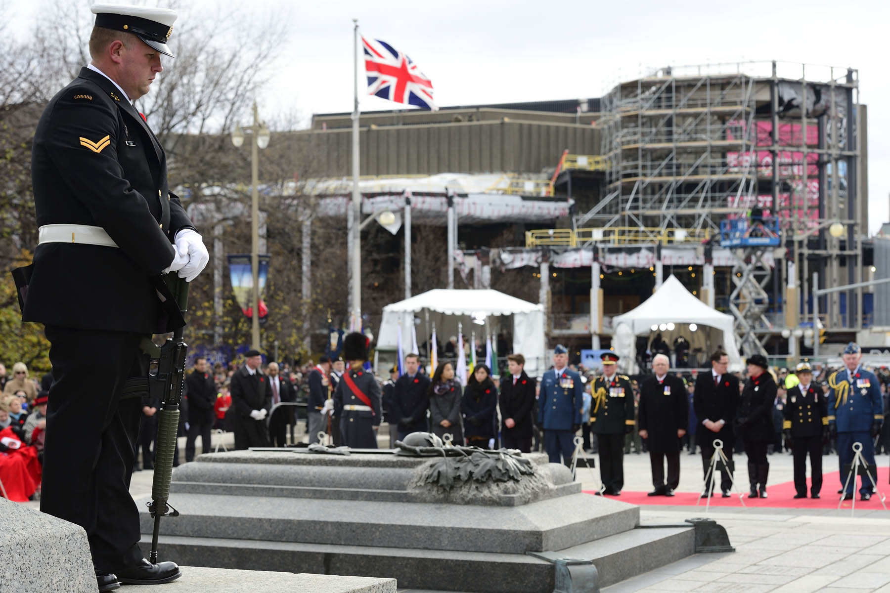 During the ceremony there were two minutes of silence to honour, thank and remember our fallen soldiers.