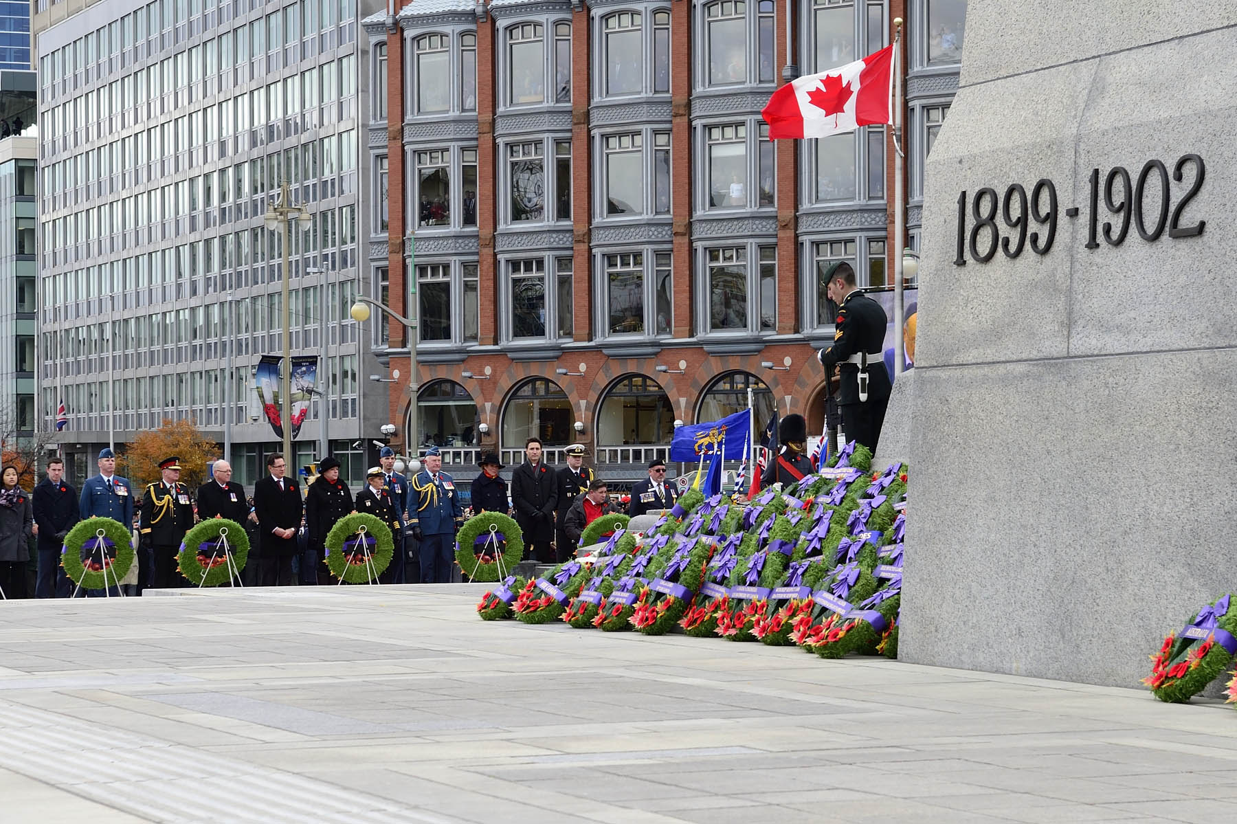 Hundreds of wreaths were laid at the Remembrance Day Ceremony.