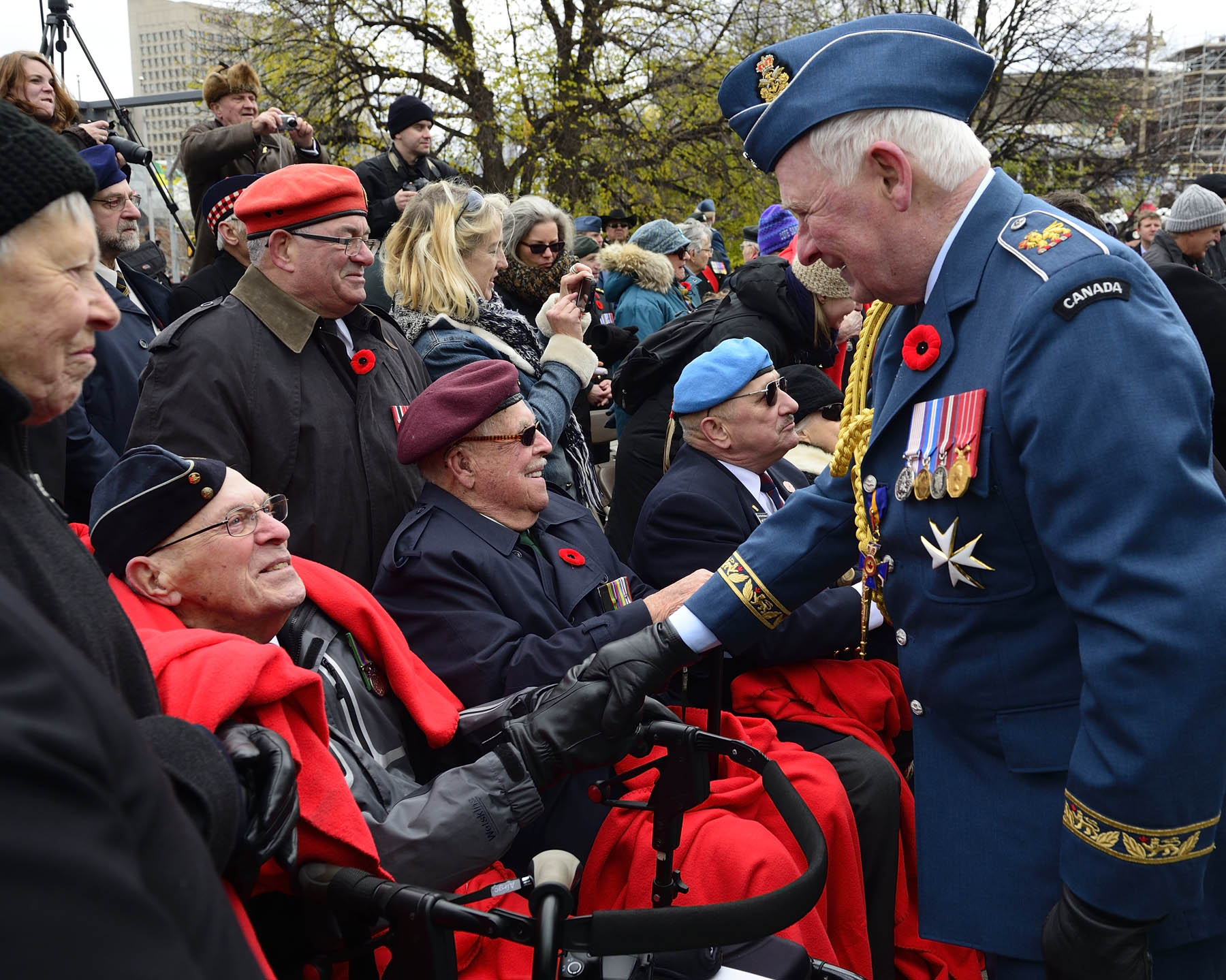 Their Excellencies took the time to personally thank the veterans for their sacrifice.