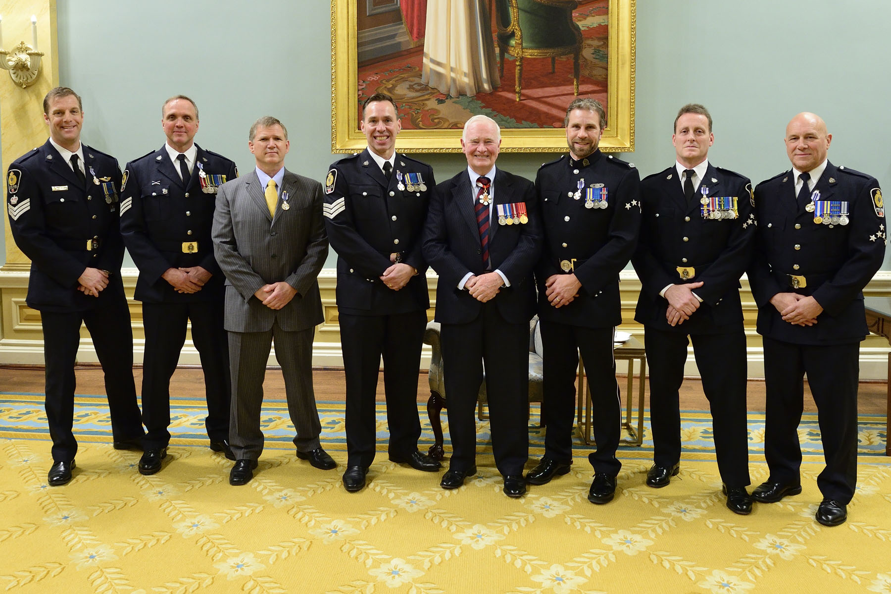 Constable Alan Dennis Arsenault, M.S.M., Constable Tobin Hinton, M.O.M., M.S.M., Constable Lenny Hollingsworth, M.S.M., Constable David W. Kolb, M.S.M., Constable Walter Maxwell McKay, M.S.M., Constable Mark Warren Steinkampf, M.S.M., Constable Dale Weidman, M.S.M.