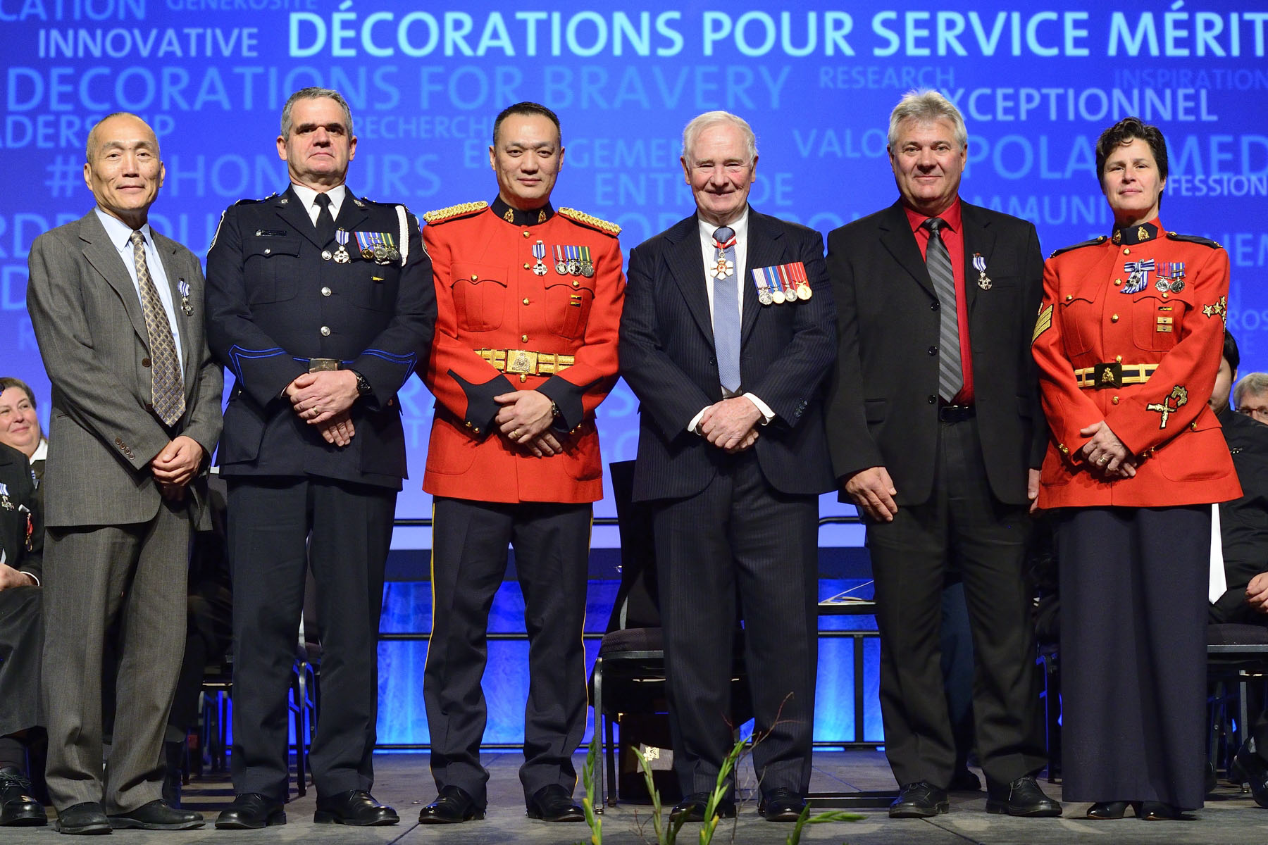 In 2000, constables Ashford, Ng and Wong, Corporal Gyorfi, Sergeant MacDonald, and civilian member Ma represented the RCMP within an international law enforcement team tracking heroin traffickers in Fiji. Their successful covert operation led to the capture of seven traffickers and the seizure of 350 kilograms of heroin destined for Canadian markets. Equally impressive, these members undertook their work during a political coup and in a hostile environment at great peril to themselves.