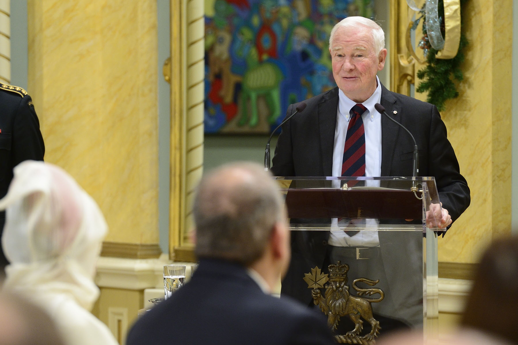 """You're both here to represent your respective countries and peoples, and your objectives in Canada are many. You will be searching for new opportunities to work together with Canadians. And you will be sharing your perspectives and stories with us,"" said the Governor General."