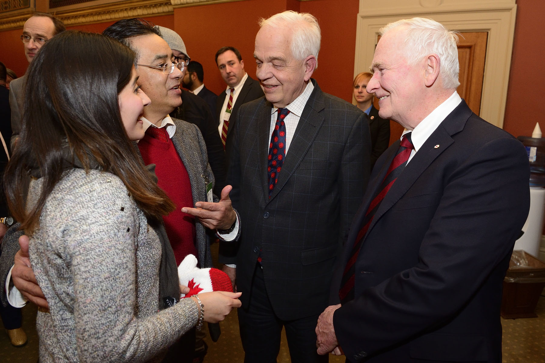 The Honourable John McCallum, Minister of Immigration, Refugees and Citizenship (middle), was in attendance.