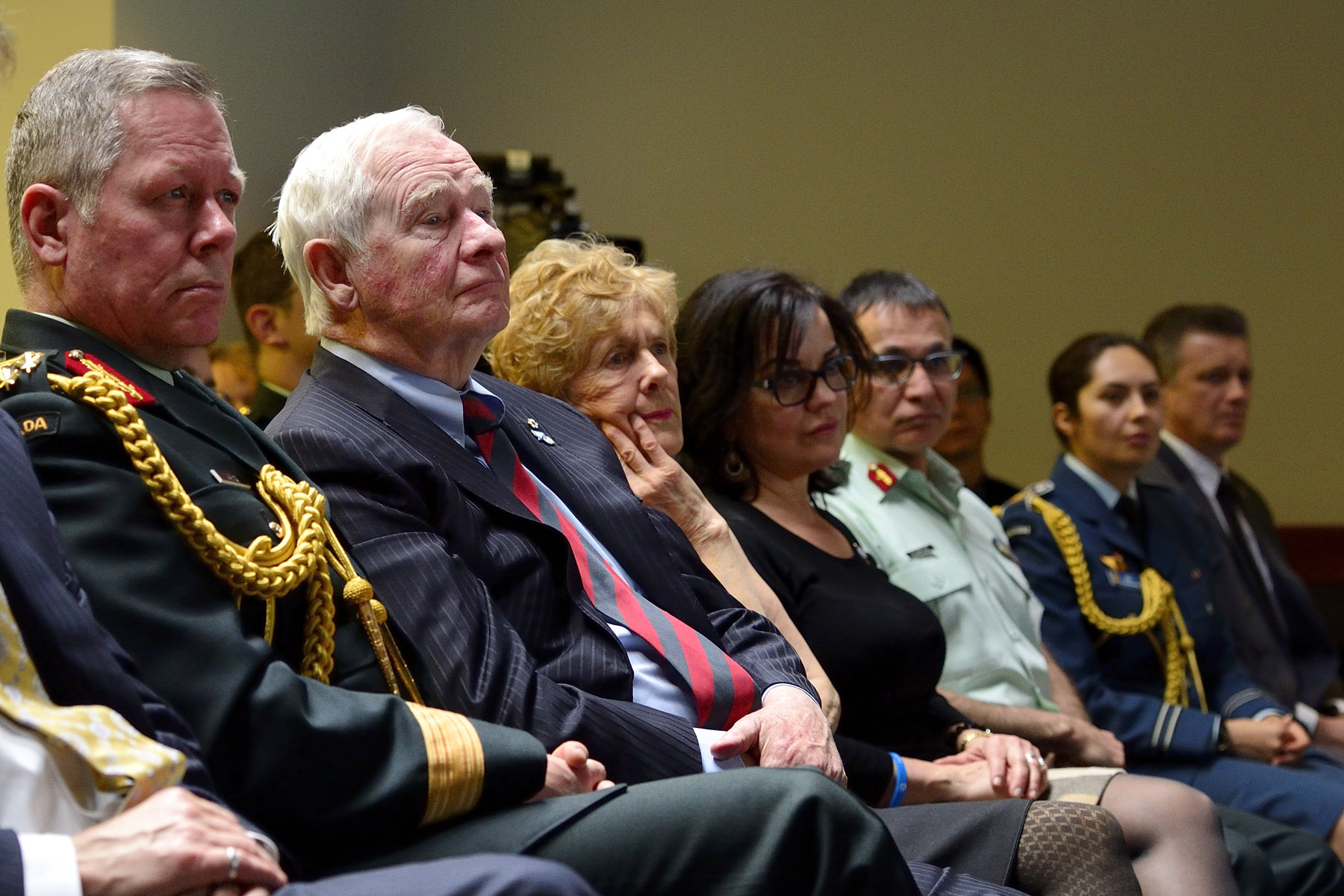 On Bell Let's Talk day, Their Excellencies attended a panel discussion hosted by the Canadian Armed Forces and the Department of National Defence.