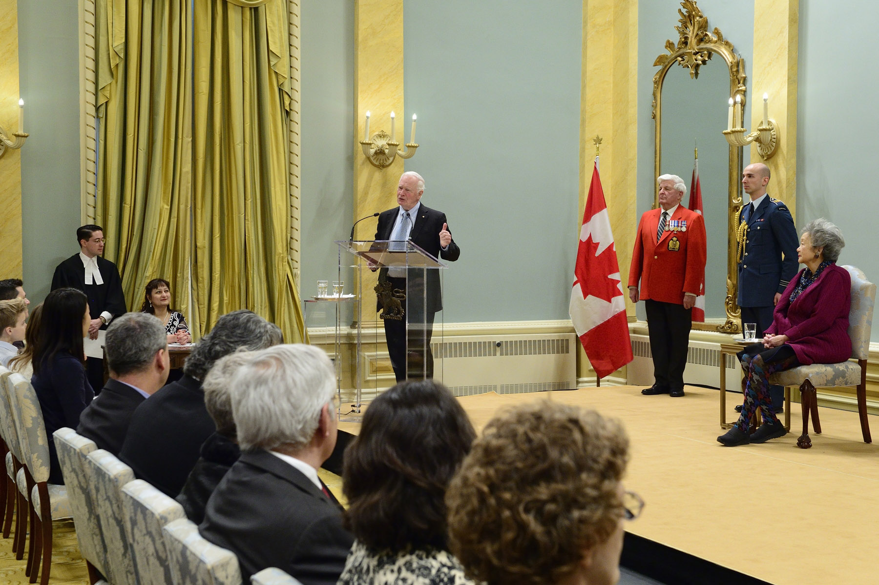 """In Canada, you don't have to choose between your country of origin and your new home. Instead, you can choose both, and together, we will be enriched by our diversity,"" said the Governor General."