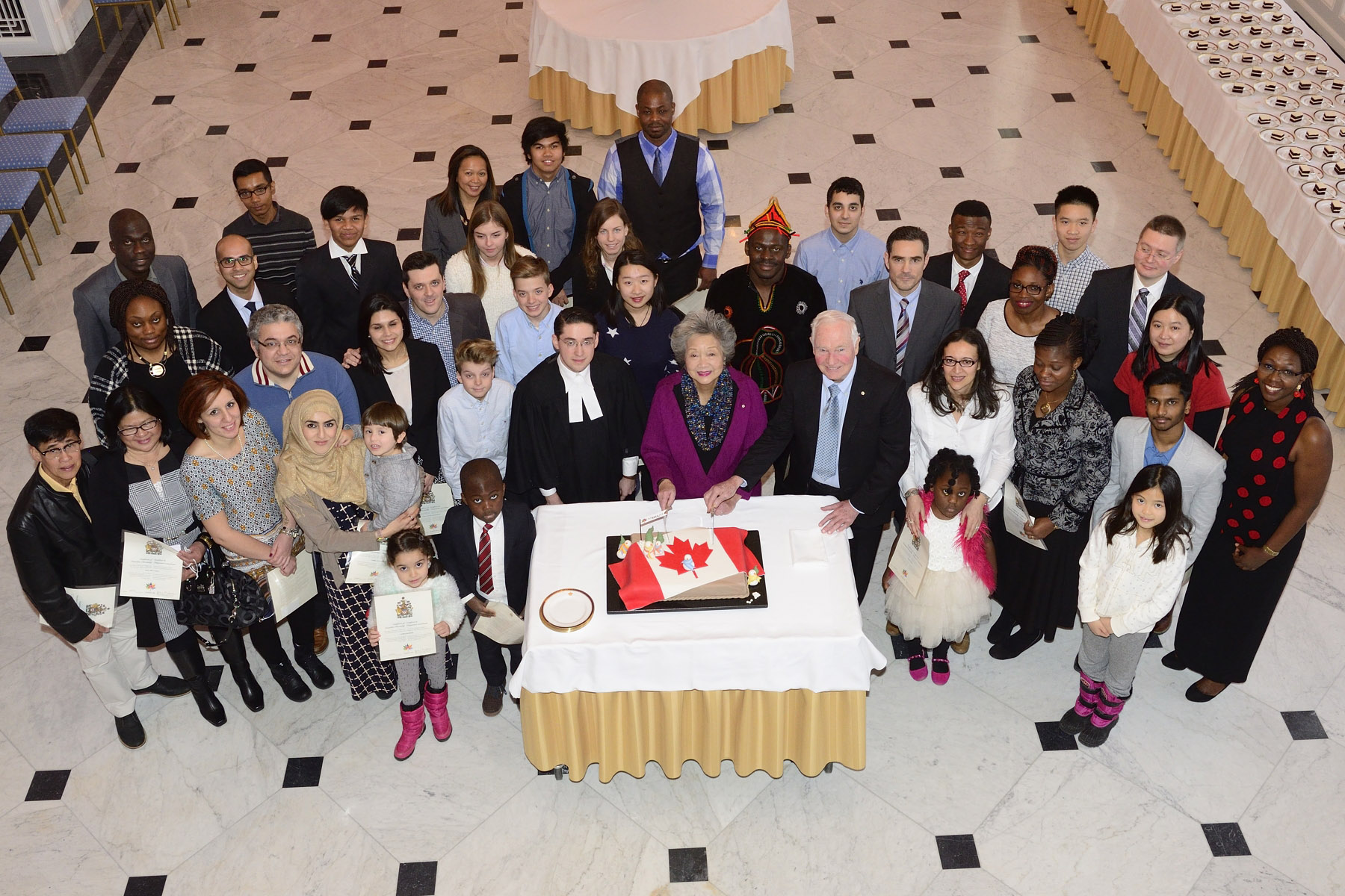 At the end of the ceremony the new Canadians were invited to celebrate this special occasion.