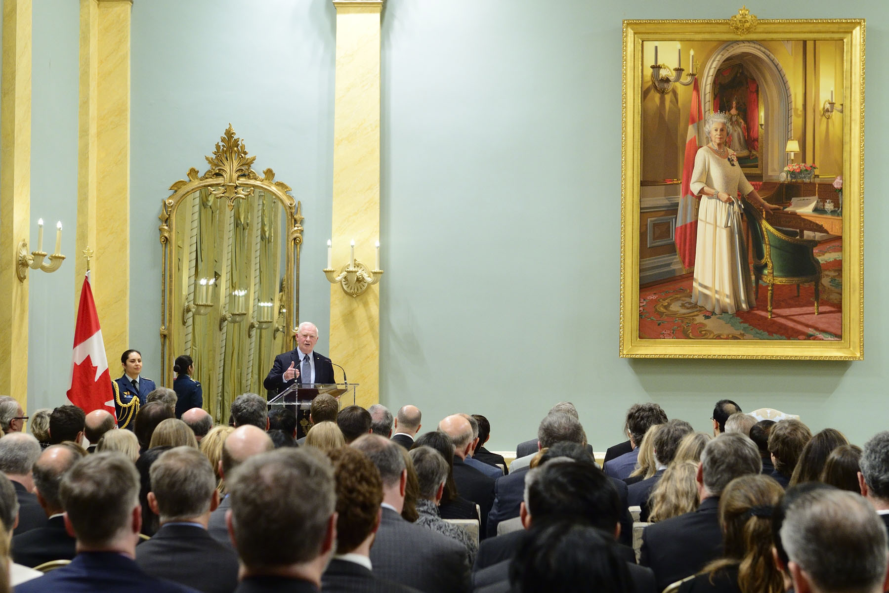 """As researchers, you have a key role to play in educating the public on the importance of basic and applied research, and showing that each has a ripple effect on the other. Moreover, the cost and complexity of research require that we collaborate and engage globally, and overcome the challenges to that model of global collaboration,"" said the Governor General."