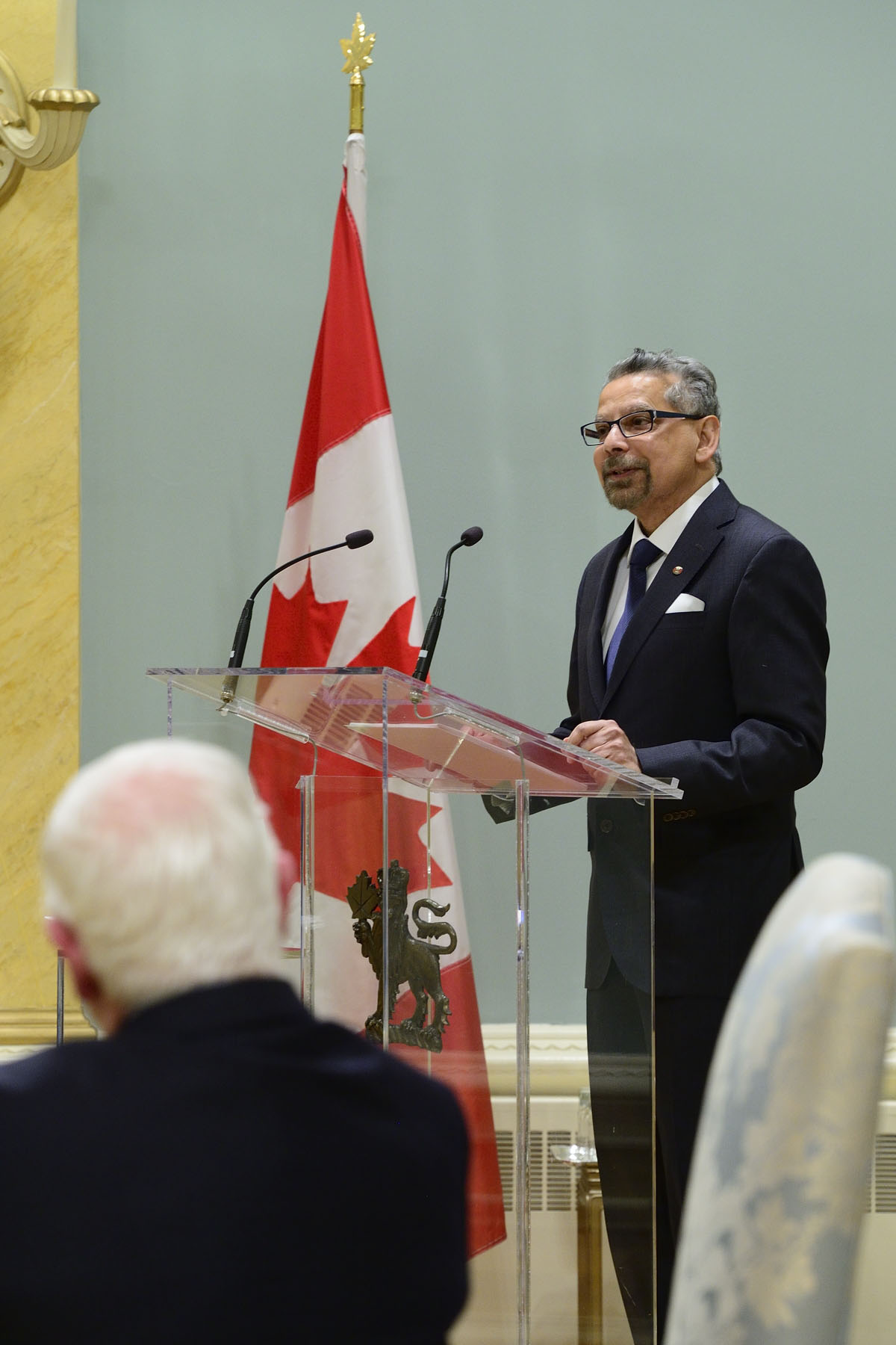 Dr. B. Mario Pinto, President of NSERC, delivered remarks and introduced each of the recipients.