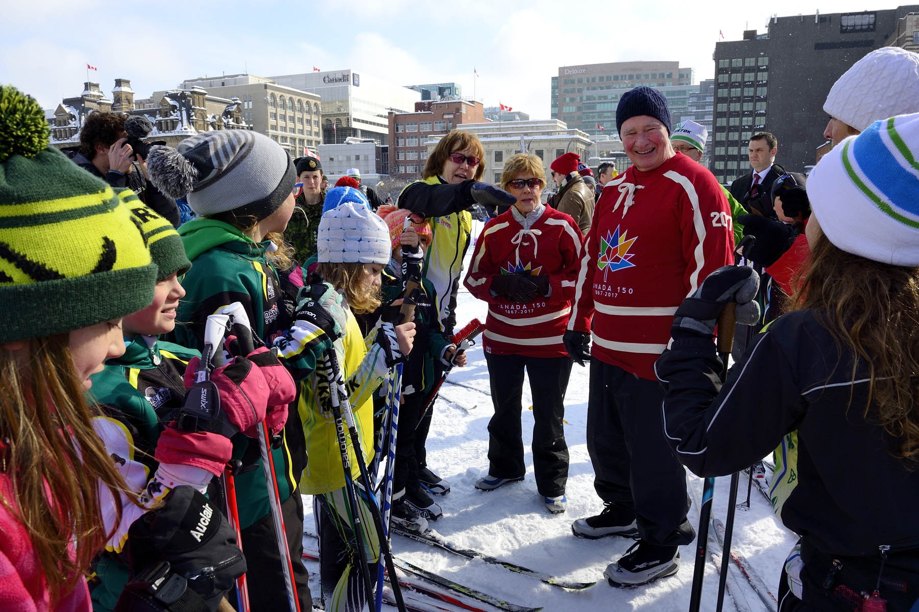 Their Excellencies participated in the second annual cross-country ski event on Parliament Hill.