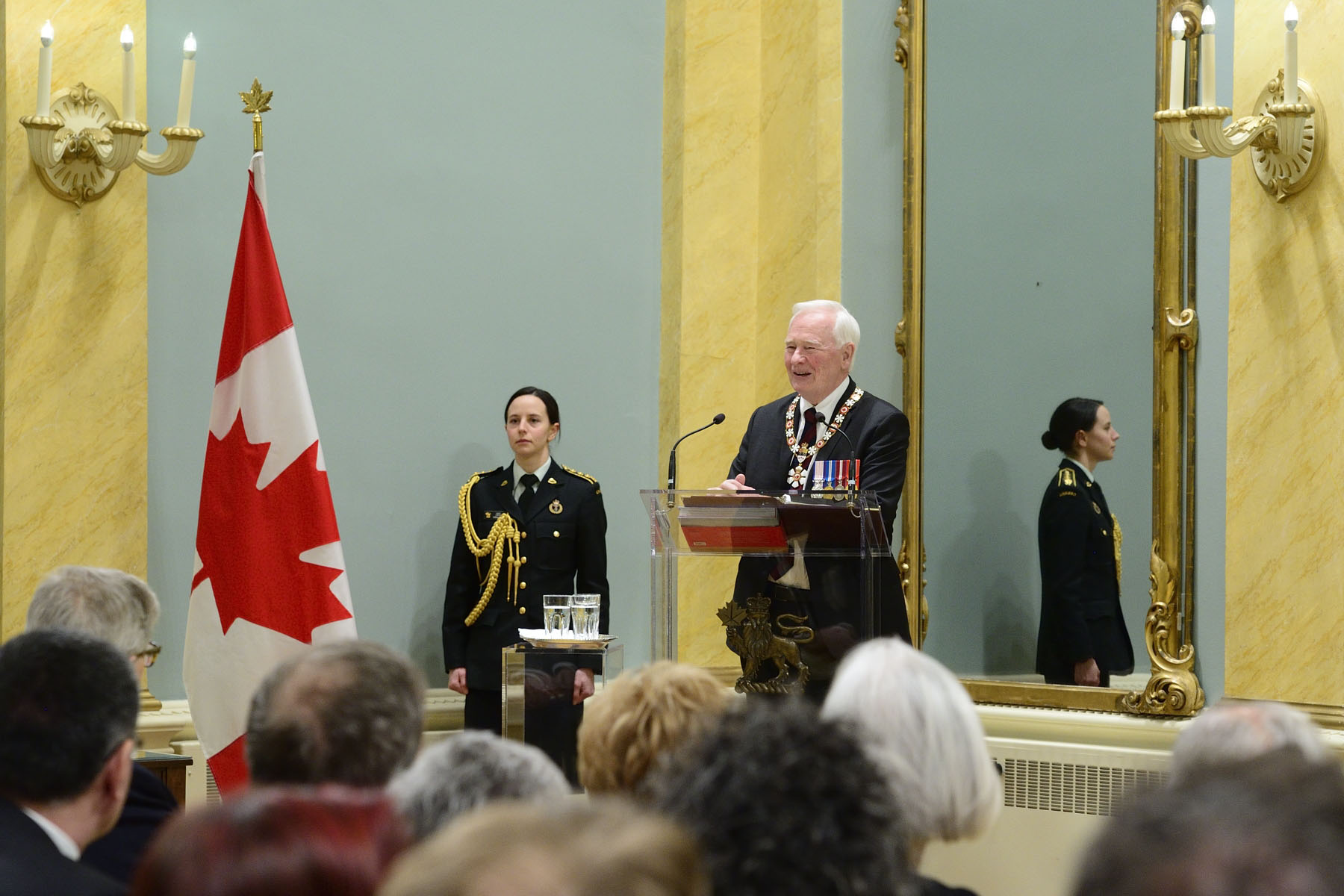 """The variety of your work is remarkable, but you share a common dedication to the individual, the specific, the particular challenge,"" said the Governor General. ""You see the big picture, but you never lose sight of the all-important details. You know that's where progress is achieved and felt. You have all worked so very hard, with your eyes fixed firmly on the future, and the sum of your visions has helped us build a better Canada."""