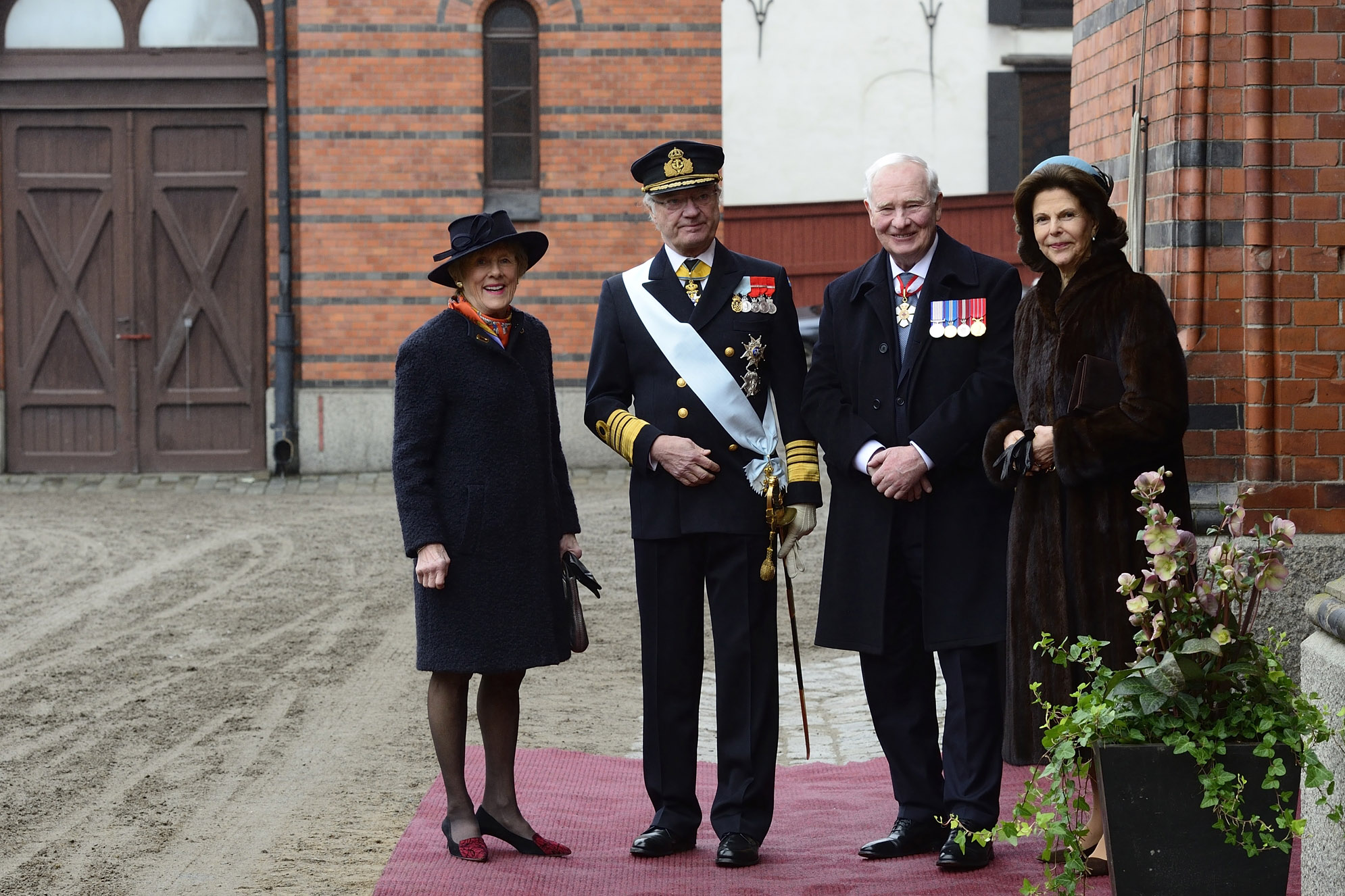 Their Excellencies started their first day in Sweden by meeting with Their Majesties King Carl XVI Gustaf and Queen Silvia.