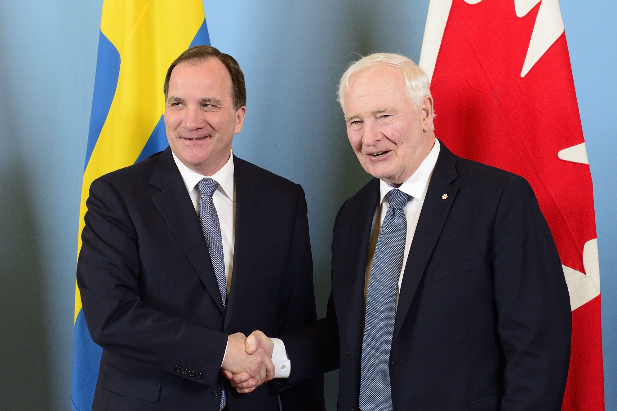 Later, His Excellency met with Mr. Stefan Löfven, Prime Minister of the Kingdom of Sweden, to discuss the relationship between Canada and Sweden.