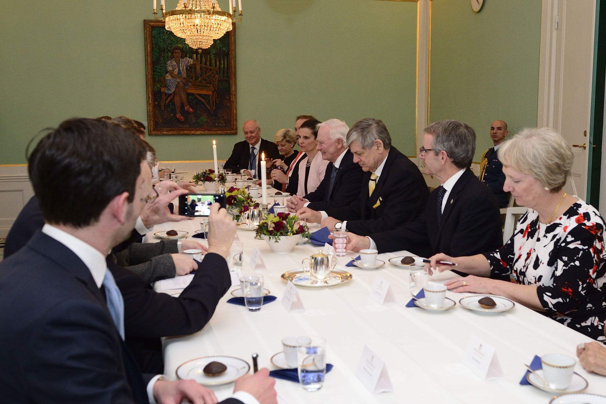 Members of the Canadian delegation and representatives of the Swedish government joined them for an expanded meeting.