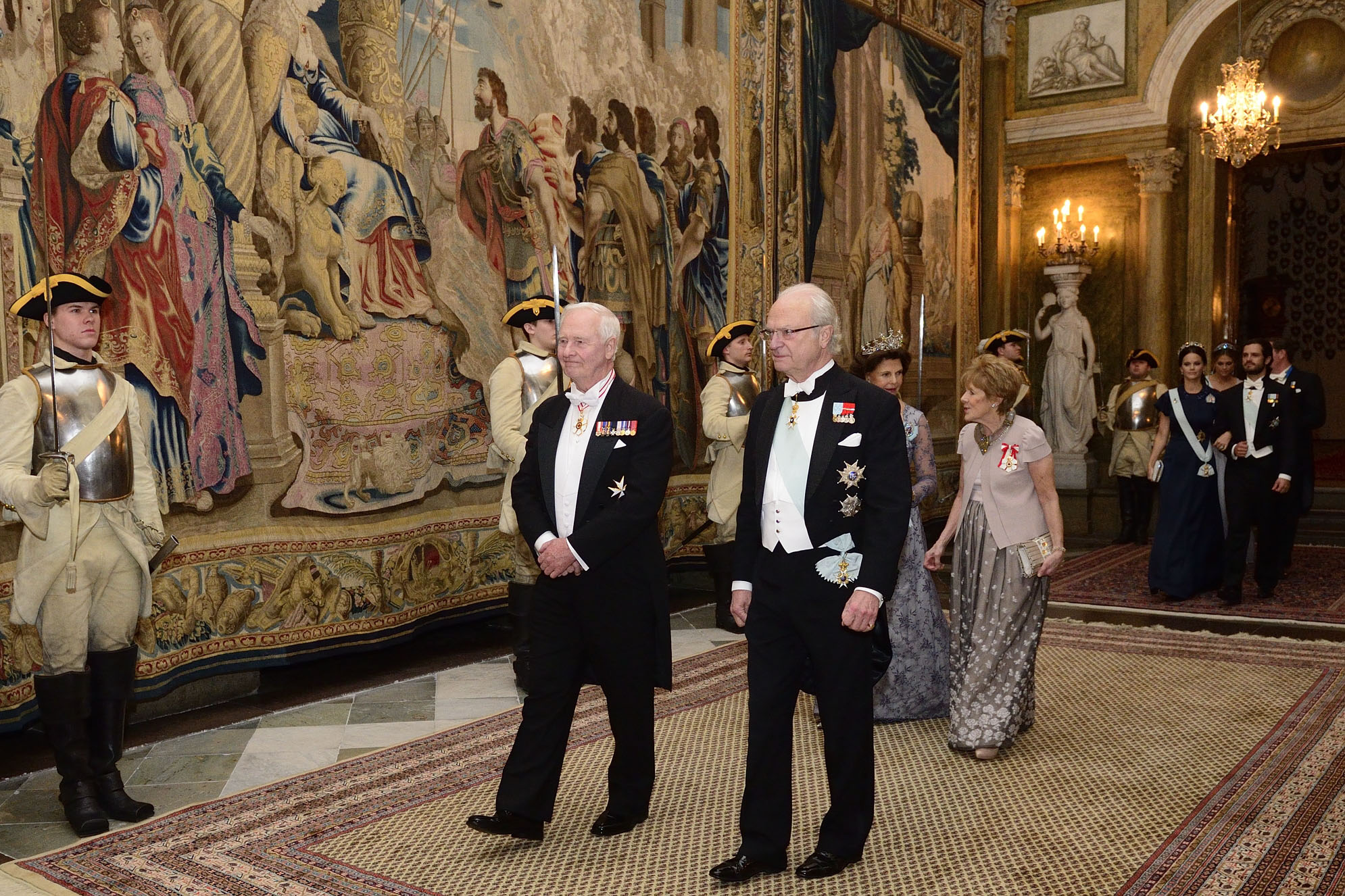 Later that evening, Their Excellencies and Canadian delegates attended a State banquet hosted by Their Majesties at the Royal Palace.