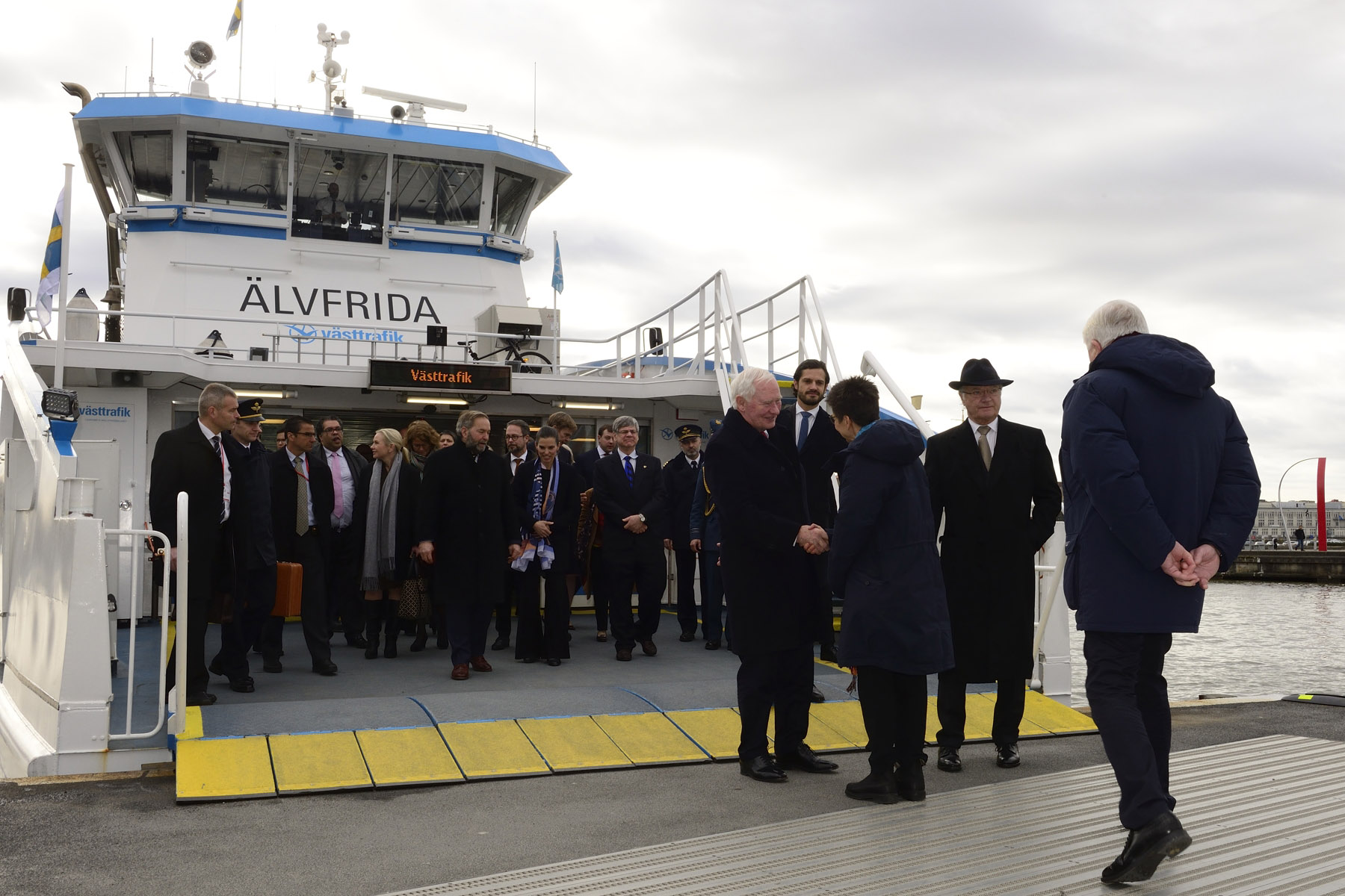 His Excellency and Canadian delegates took the ferry to the Lindholmen Science Park.
