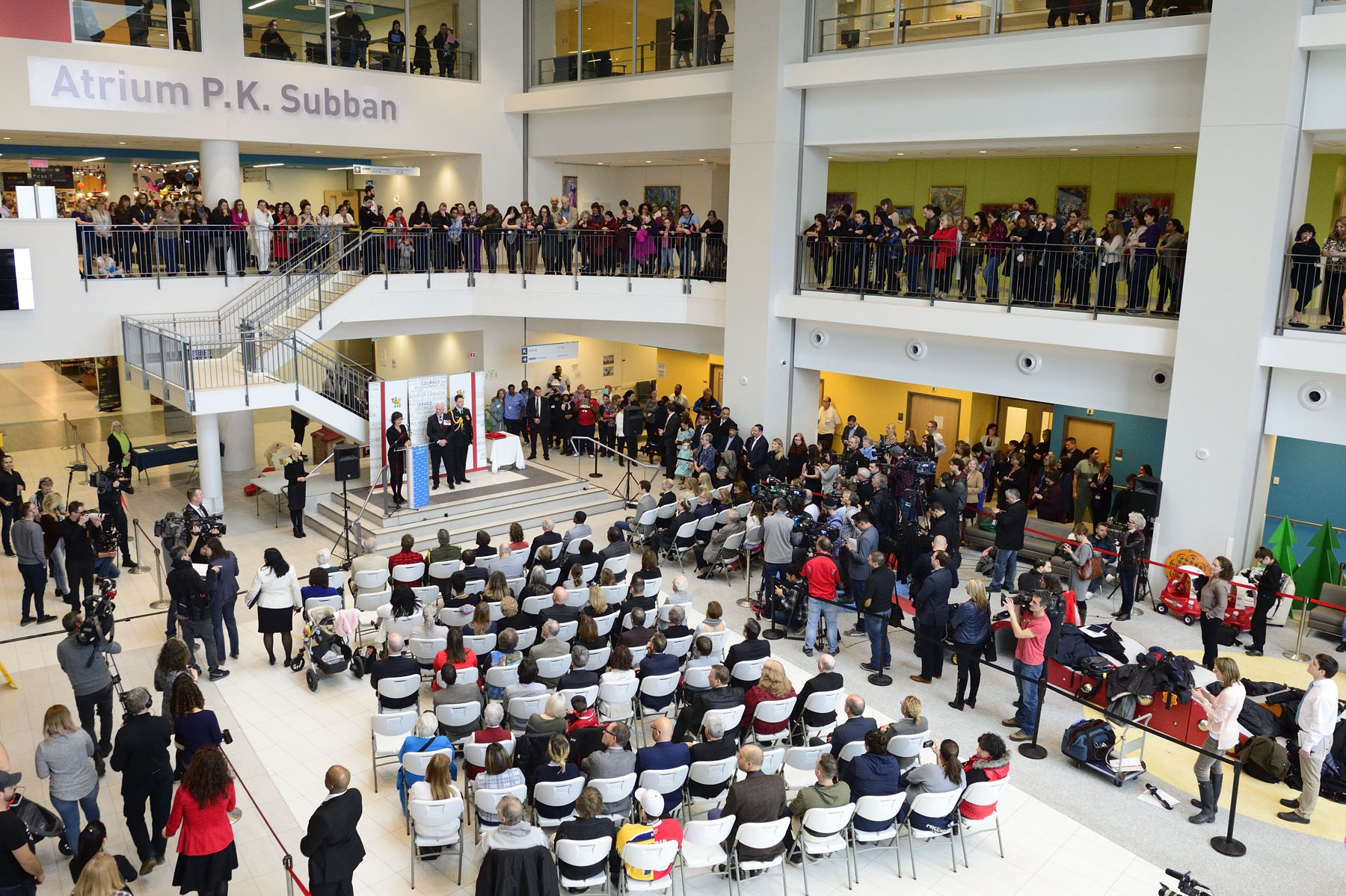 The ceremony took place in the P.K. Subban Atrium of the Montreal Children's Hospital on March 1, 2017.