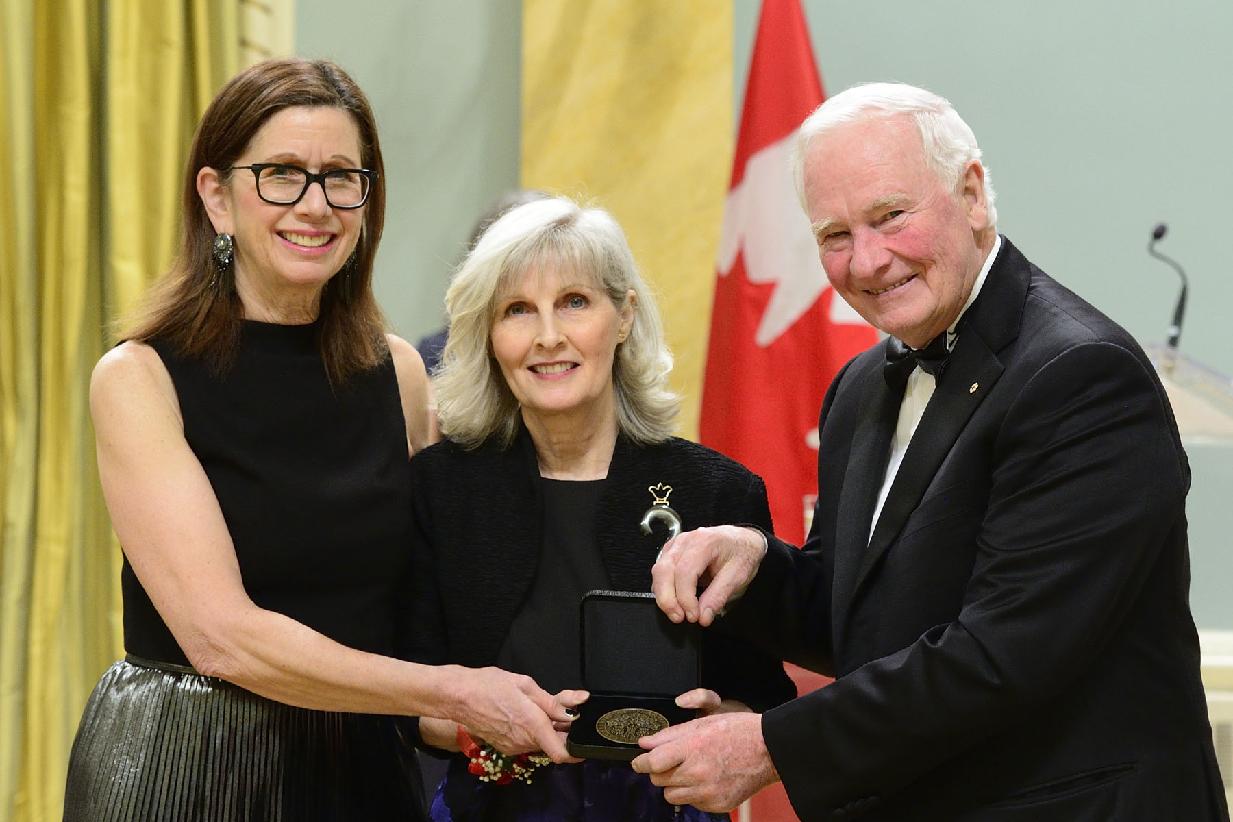 Lastly, the Governor General presented the Saidye Bronfman Award to Pamela Ritchie for her jewellery that brings together traditional craft processes, contemporary ideas of science and culture, and the language of materials.