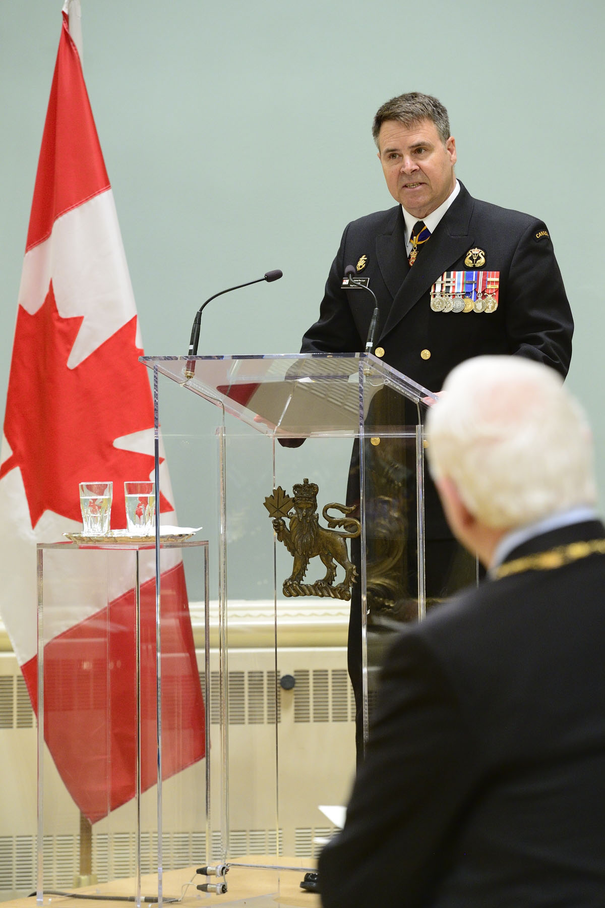 Vice-Admiral Lloyd, Acting Vice Chief of Defence staff and Commander of the Royal Canadian Navy, also spoke during the ceremony.