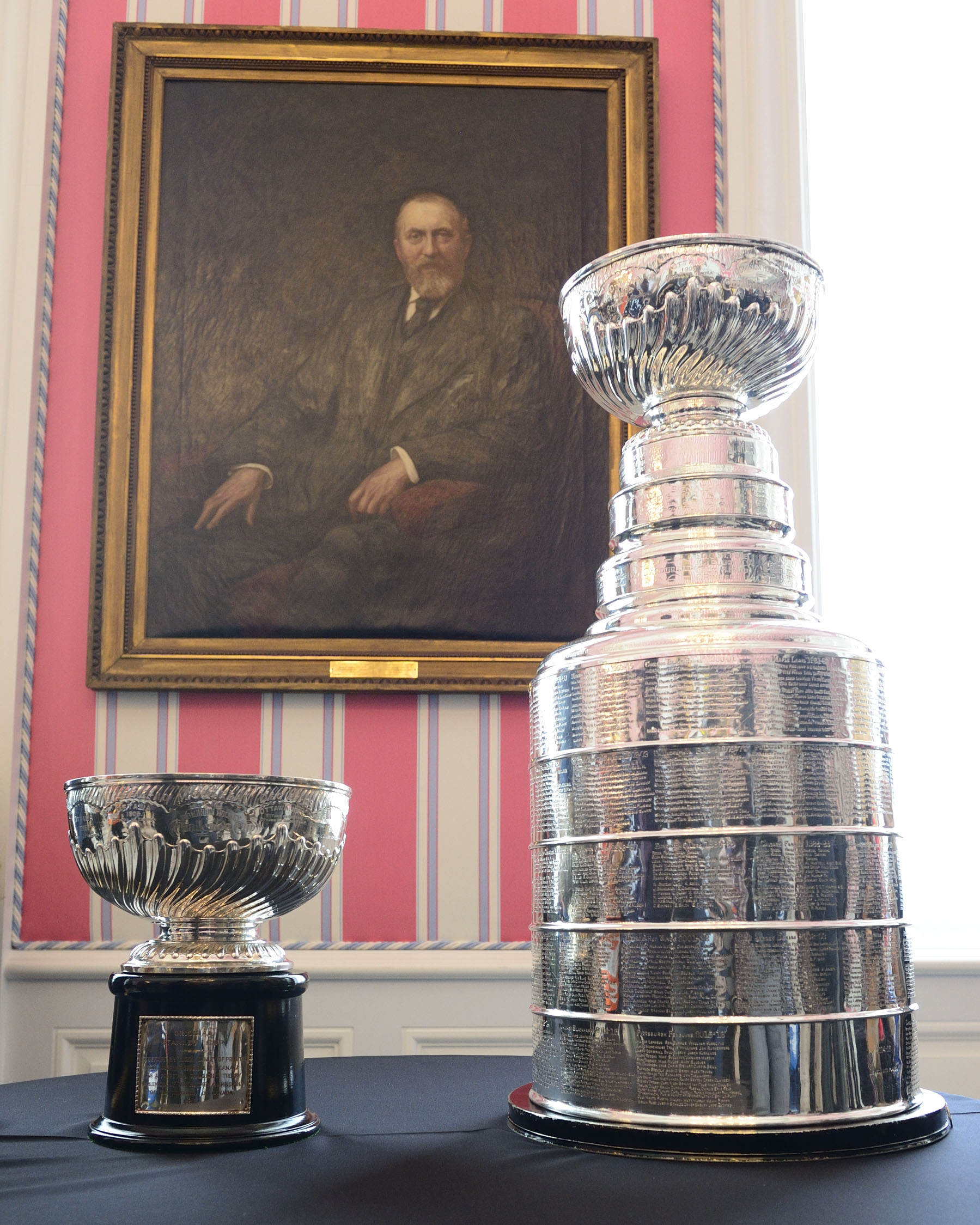 The Stanley Cup, notably the oldest trophy competed for by professional athletes in North America, was donated in 1892 by Lord Stanley of Preston, who was appointed as Canada's 