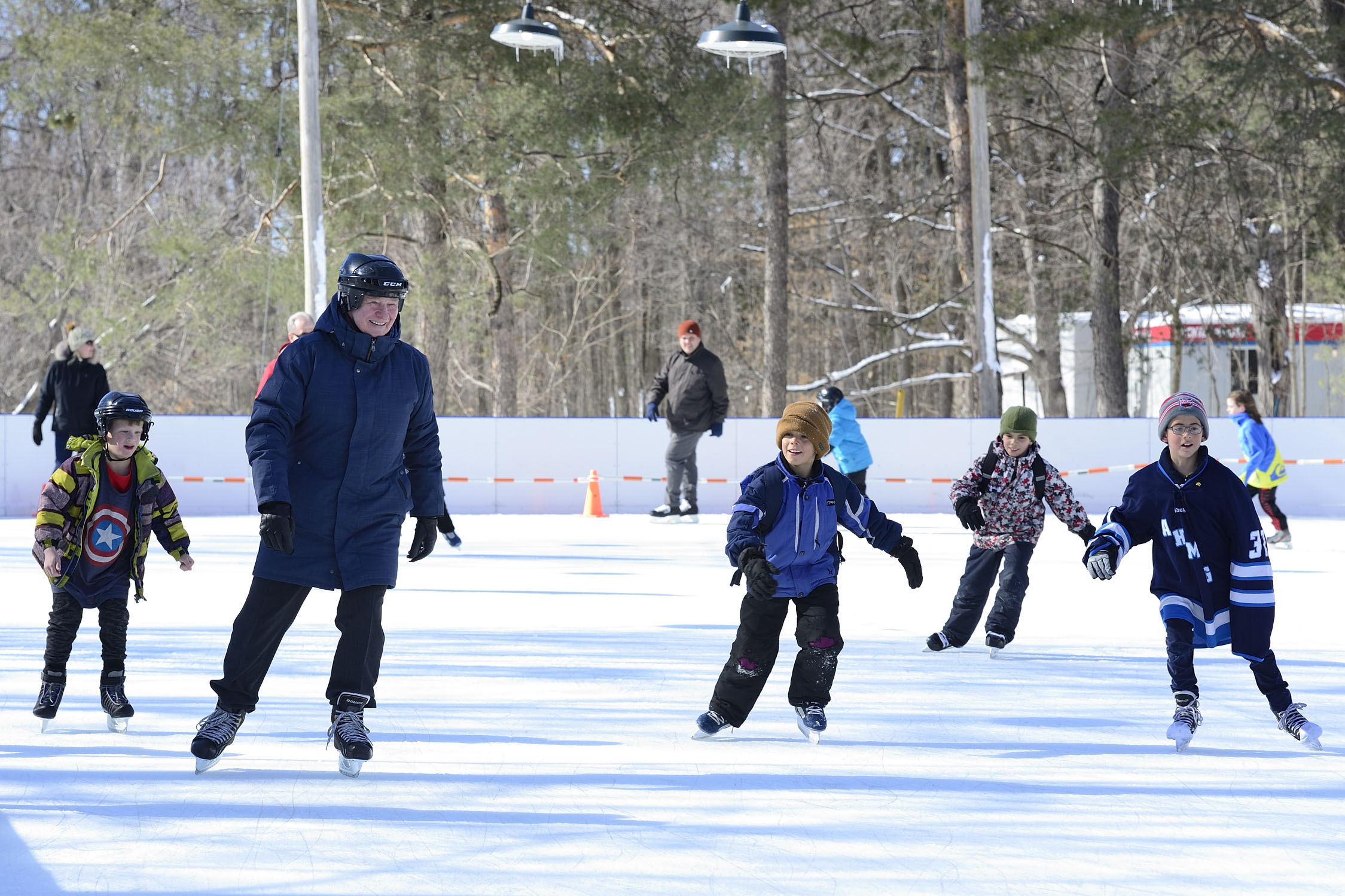 The Governor General concluded the day with some skating on Rideau Hall's historic outdoor skating rink.