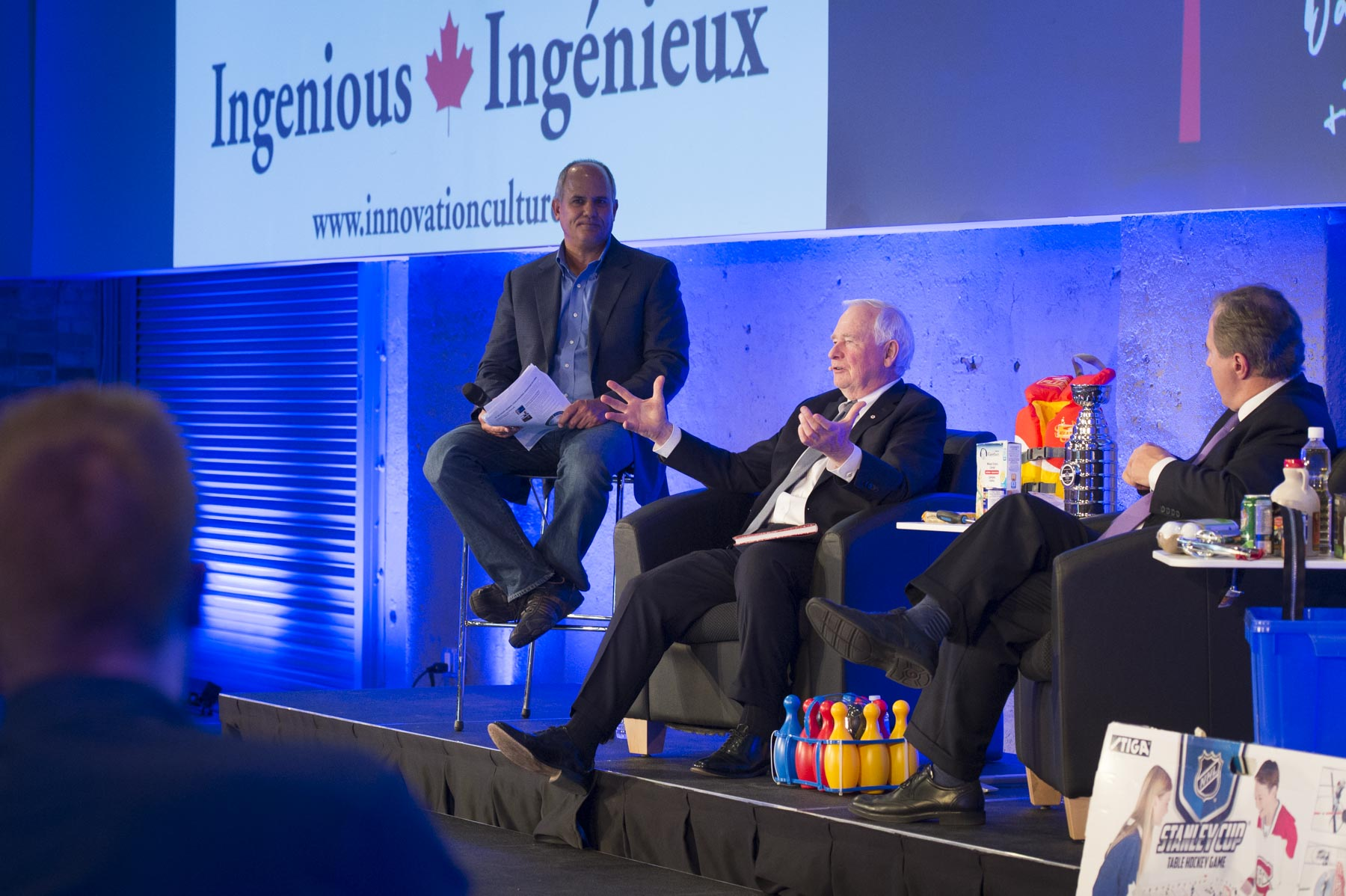 Later that day, the Governor General and Mr. Jenkins visited Communitech to discuss their new book Ingenious during an on-stage conversation hosted by Iain Klugman, President and CEO of Communitech.