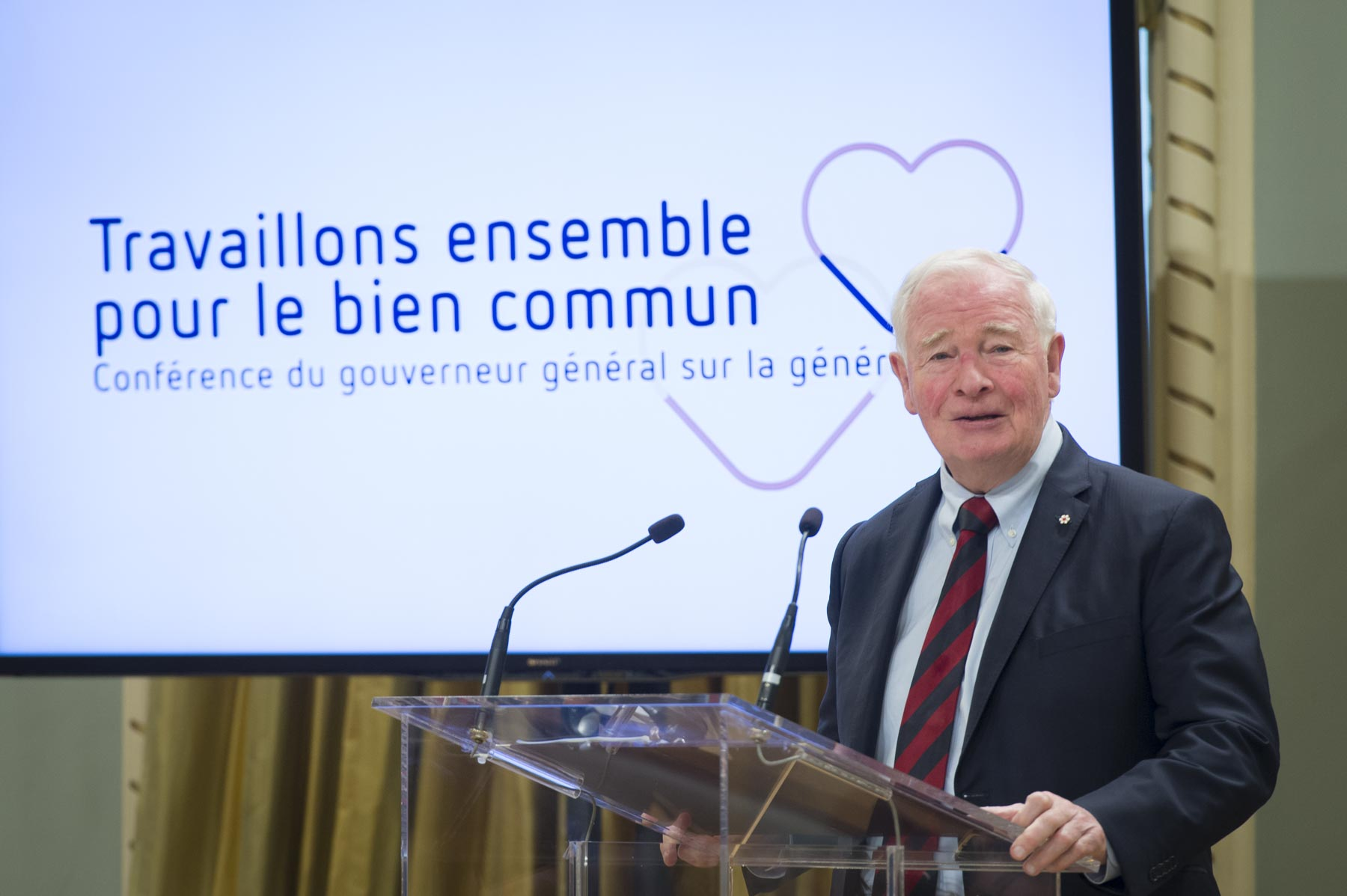 His Excellency the Right Honourable David Johnston, Governor General of Canada, hosted Working Together for the Common Good: Governor General's Conference on Giving at Rideau Hall, on April 27, 2017.